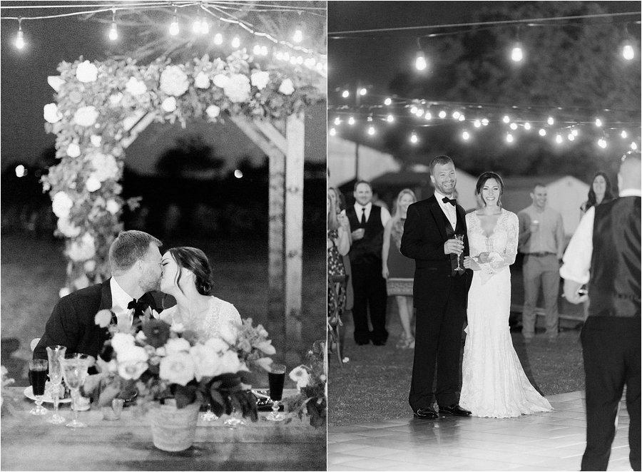 Stunning backyard wedding at a horse ranch, by Dallas destination wedding photographer Tracy Enoch