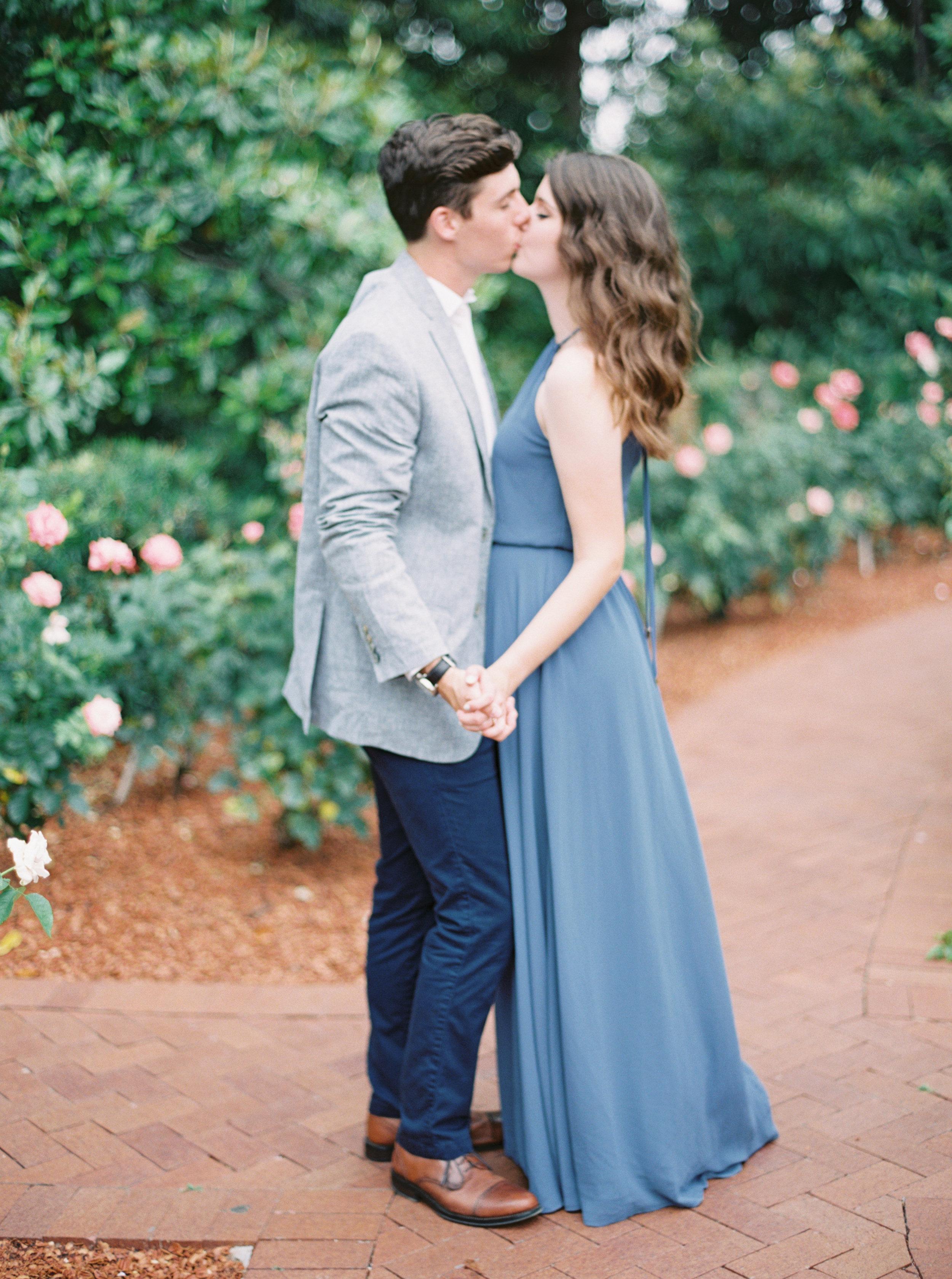 Garden engagement photos by Dallas destination wedding photographer Tracy Enoch