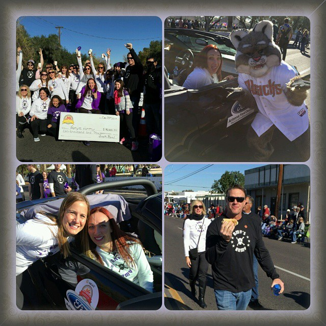 Such an amazing day!  Launch of AmyVanDyken.org and Amy's Army leading the way in the Fiesta Bowl parade.