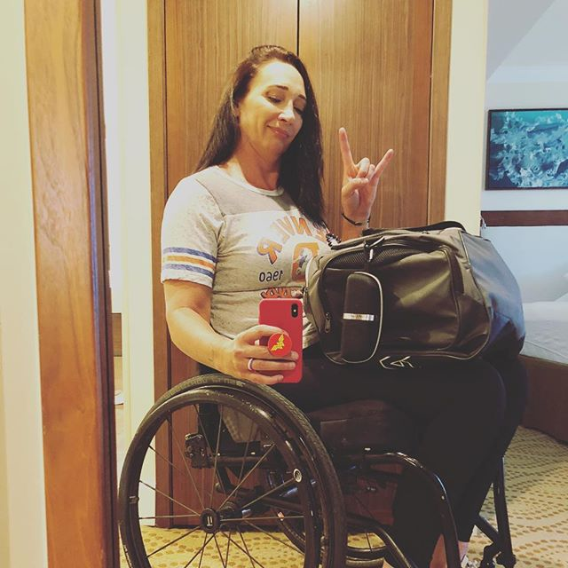 Bags are packed..off to the airport cause I'm goin back to Cali, to Cali, to Cali!! Northern Cali to be exact. Oh, and GO BRONCOS!!! #travel #wheelchairtravel #WheelieGoodLife #Werk #CoastToCoast