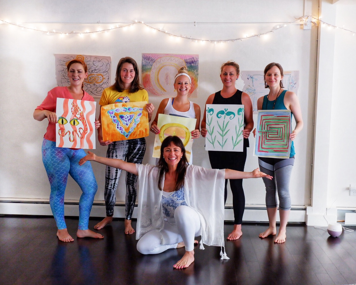 Newly graduated Art & Yoga Teachers! What a week it's been. WOW.