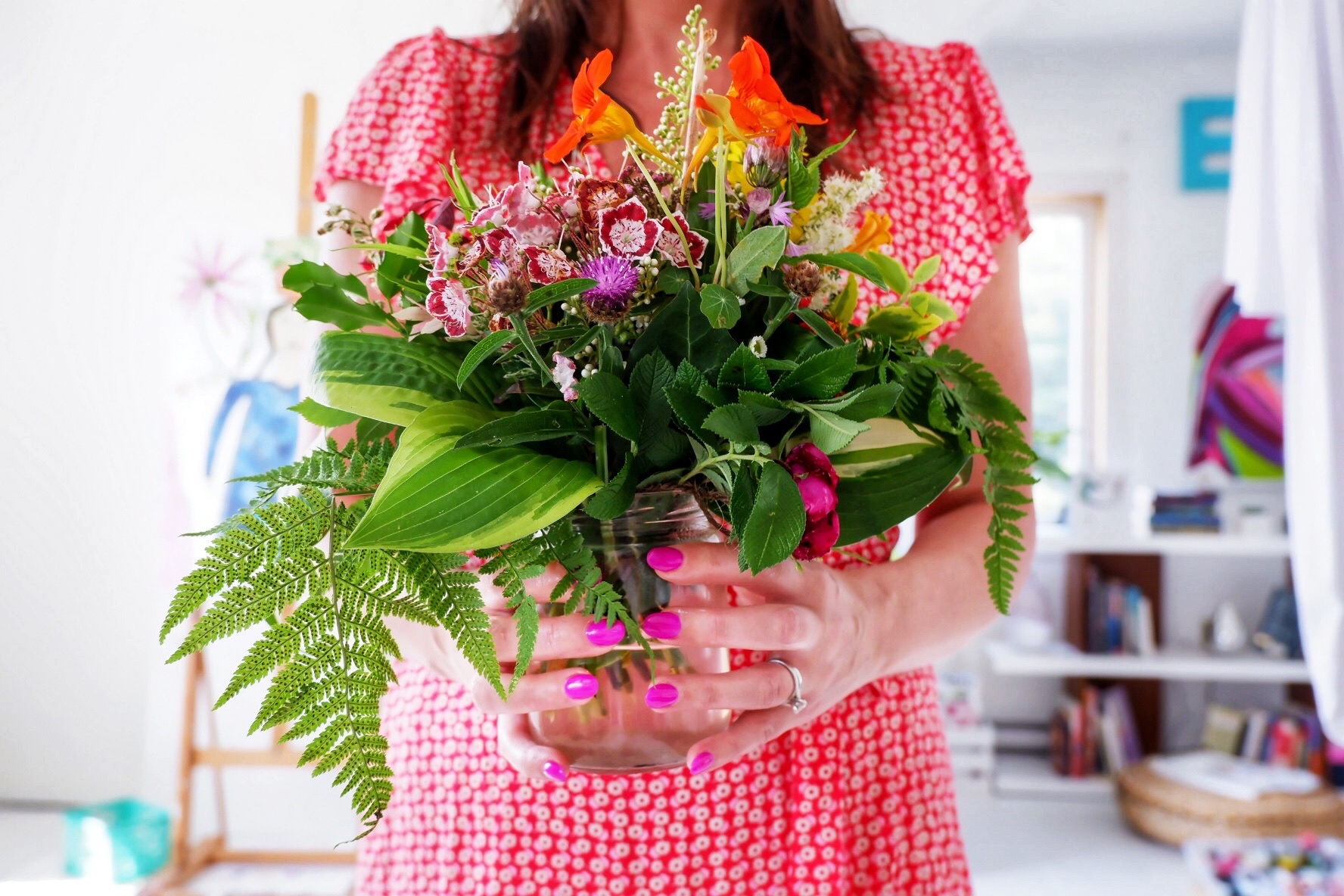 Thank you to a sweet student for having made to stunning wild bouquet! I am a LUCKY teacher.