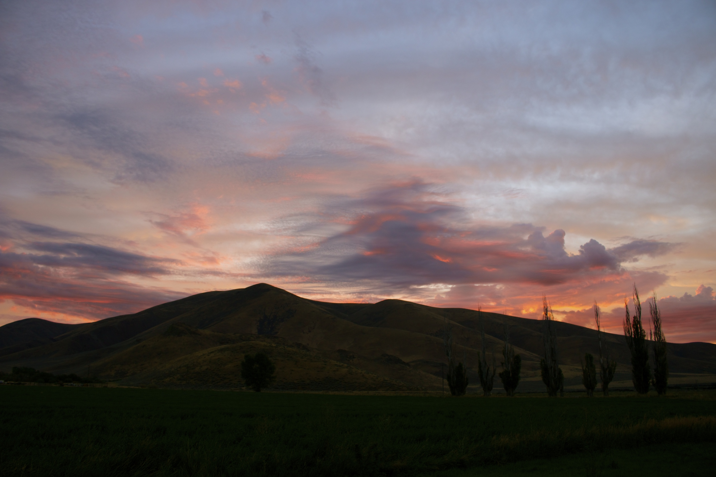 will's hill sunset