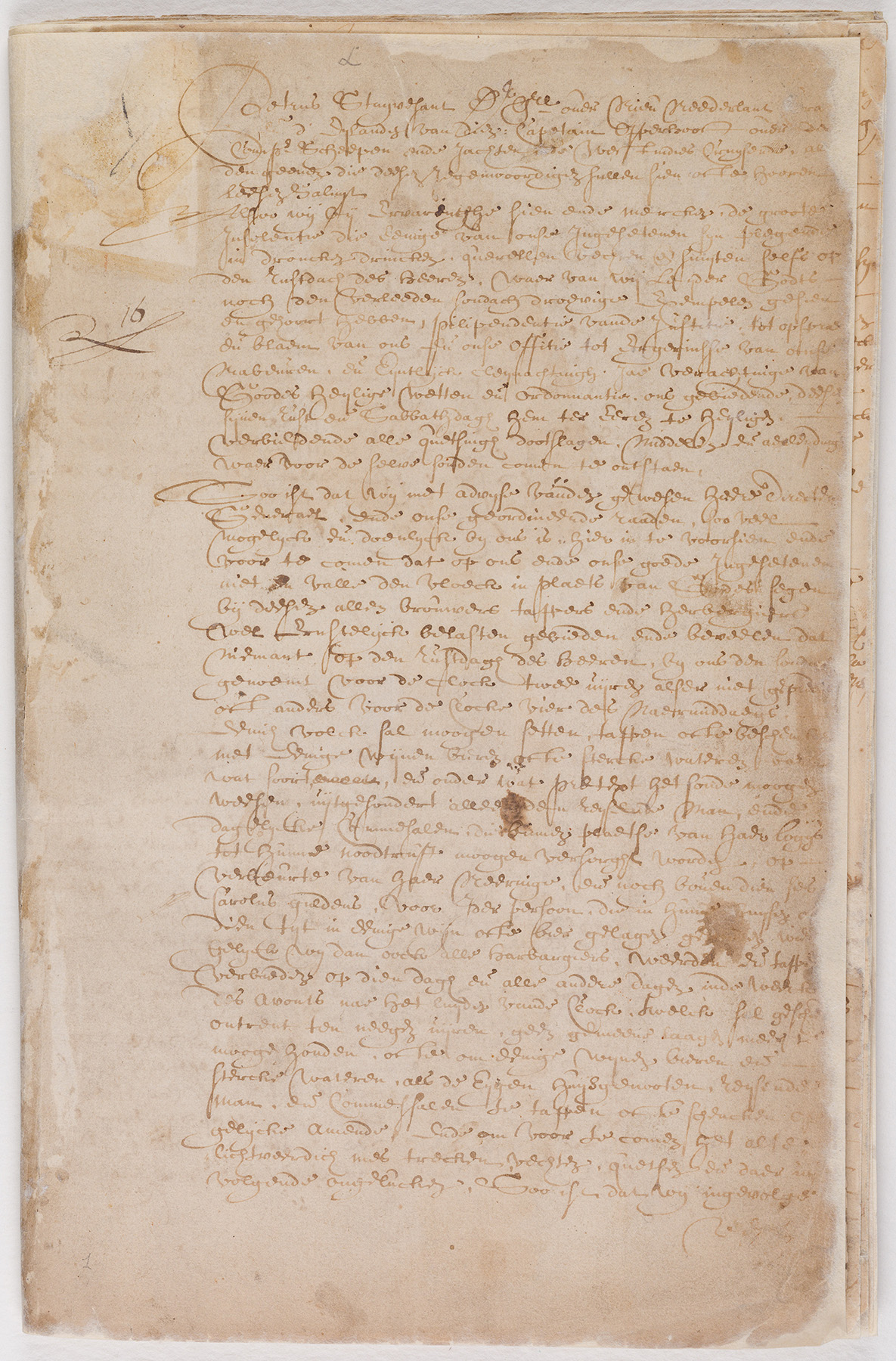 Ordinances of New Amsterdam, page 1