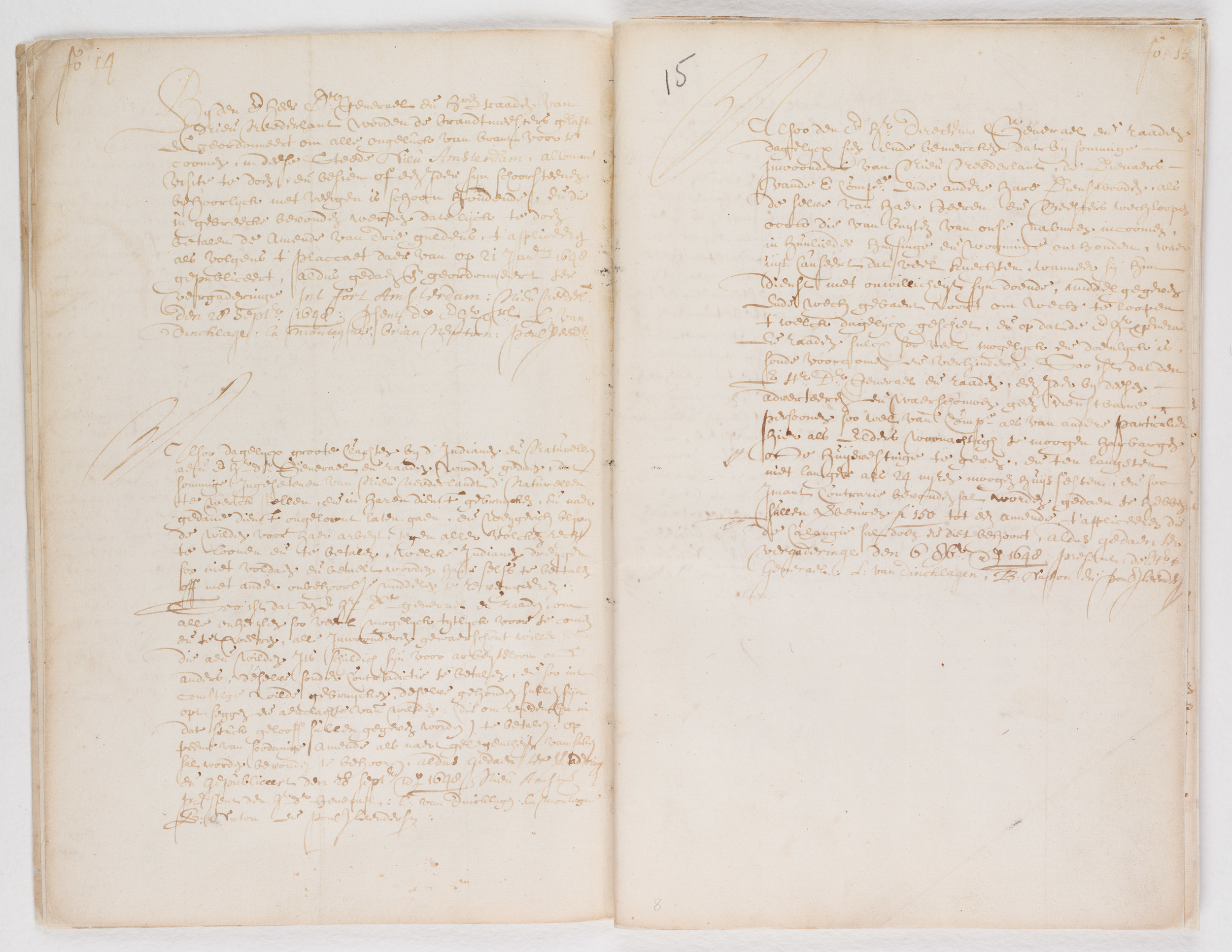 Ordinances of New Amsterdam, page 14-15