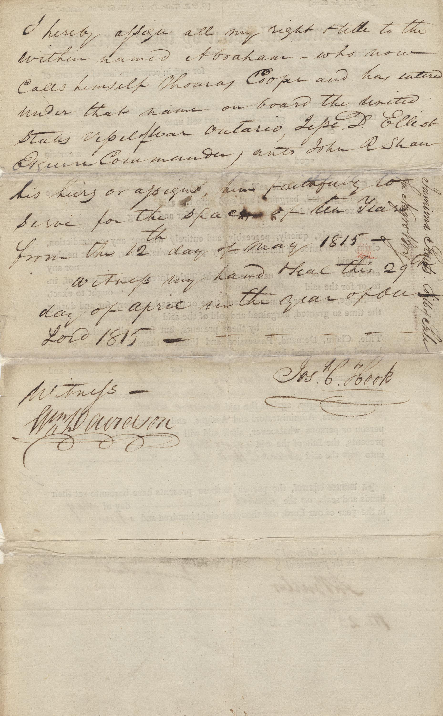 Manumission of Abraham