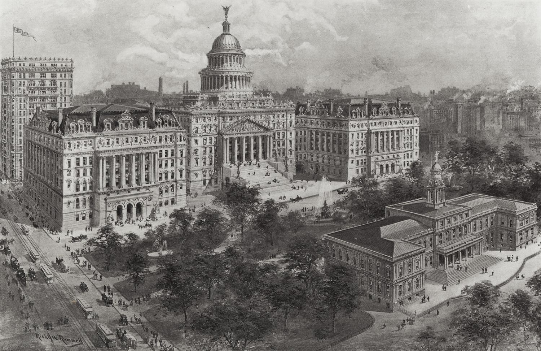 Proposed Civic Center, ca. 1920