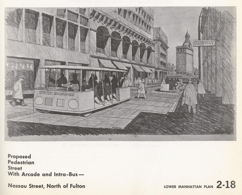Proposed Nassau Pedestrian Street, 1963