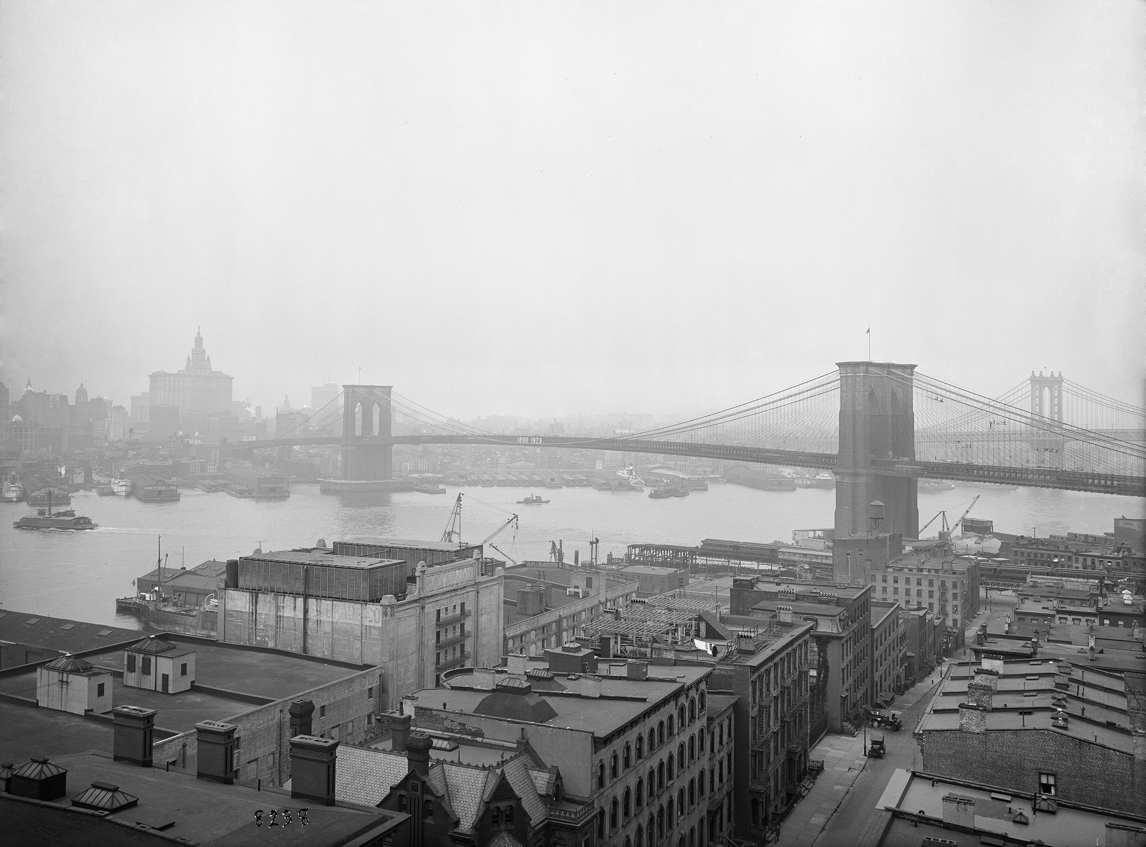 Brooklyn Bridge view from Hotel Margaret, Eugene de Salignac, June 12, 1923