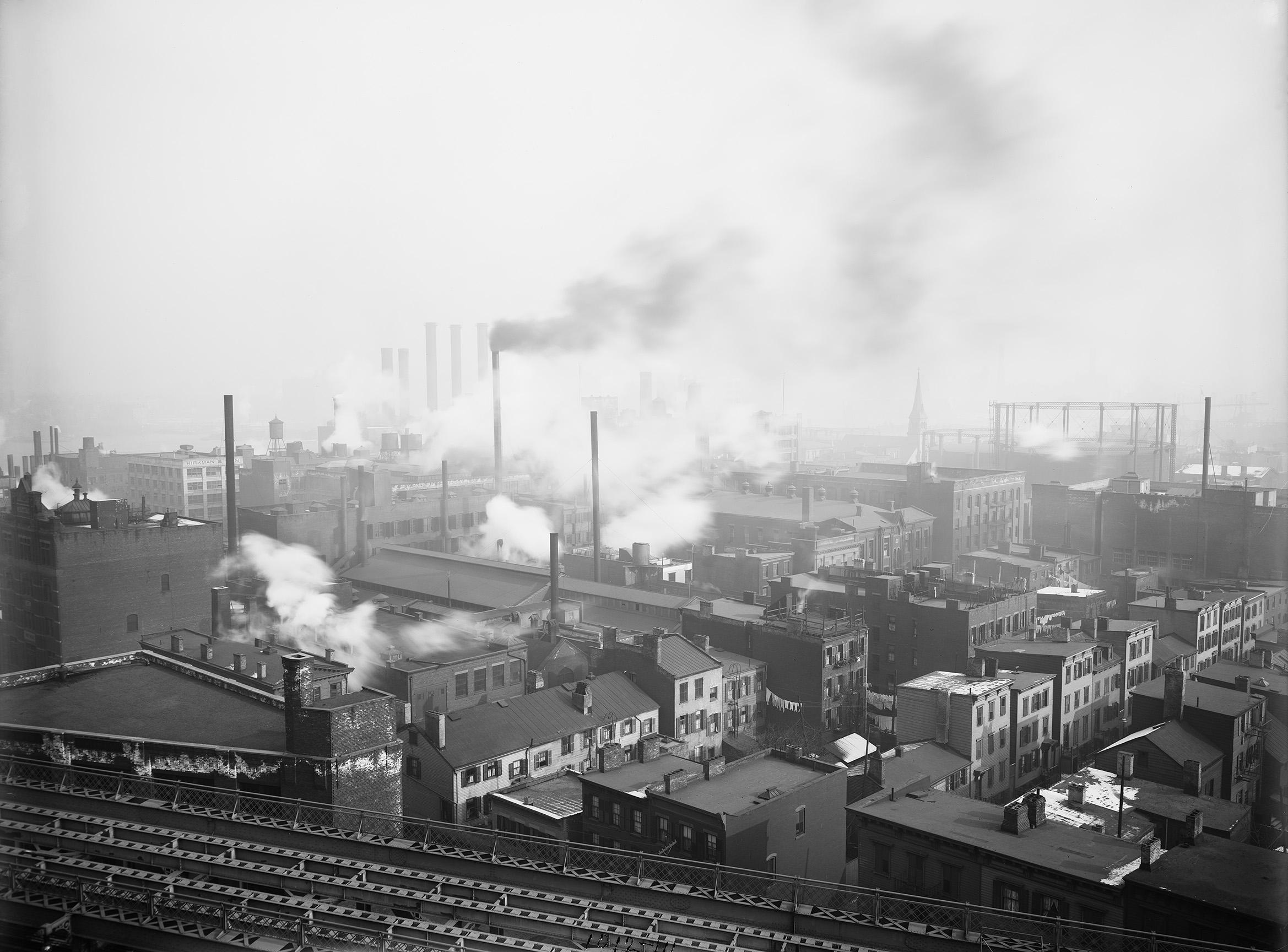 York and Jay Street from the Manhattan Bridge, Eugene de Salignac, January 4, 1912