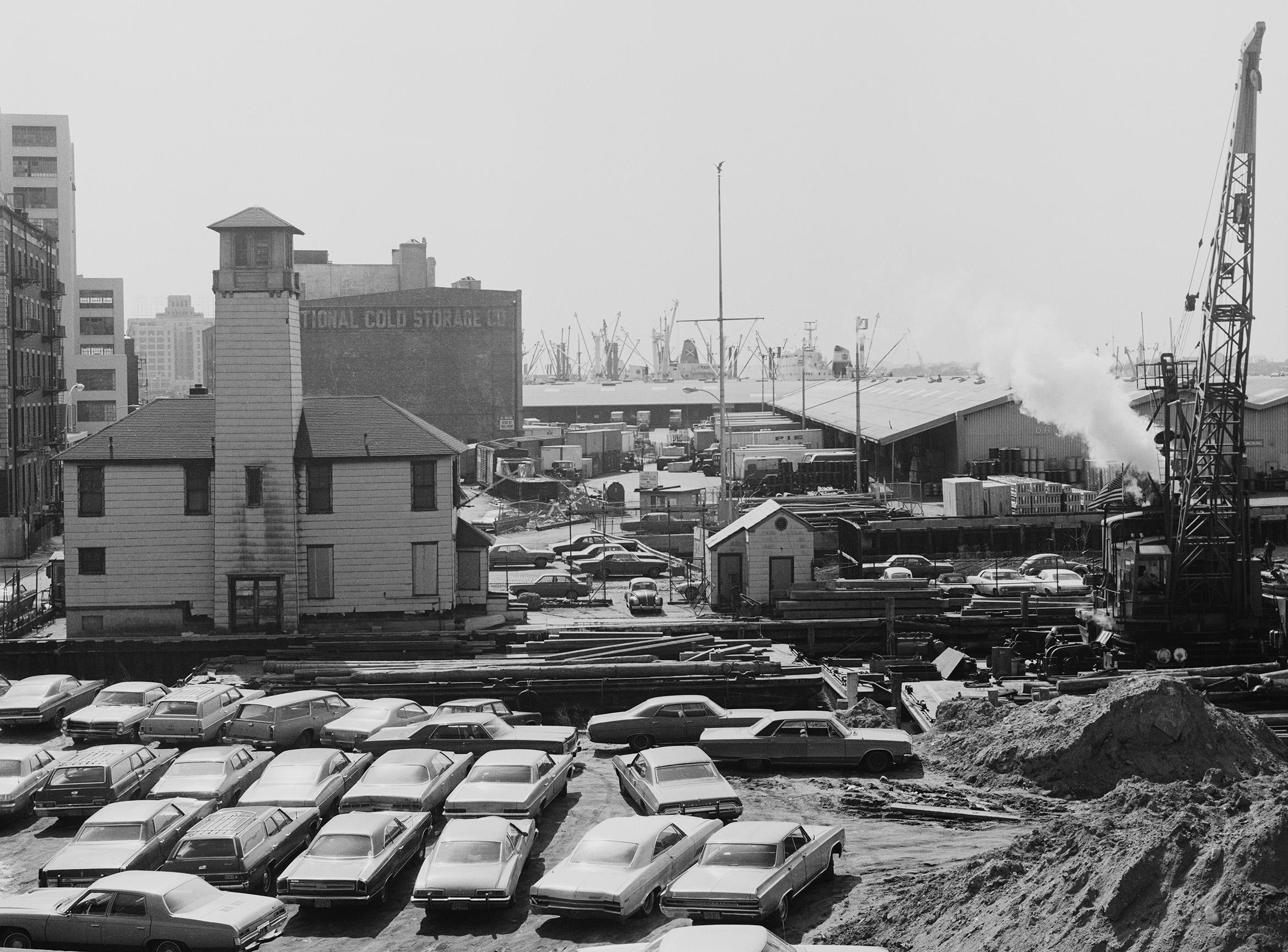 Ferry under Brooklyn Bridge, May 17, 1974