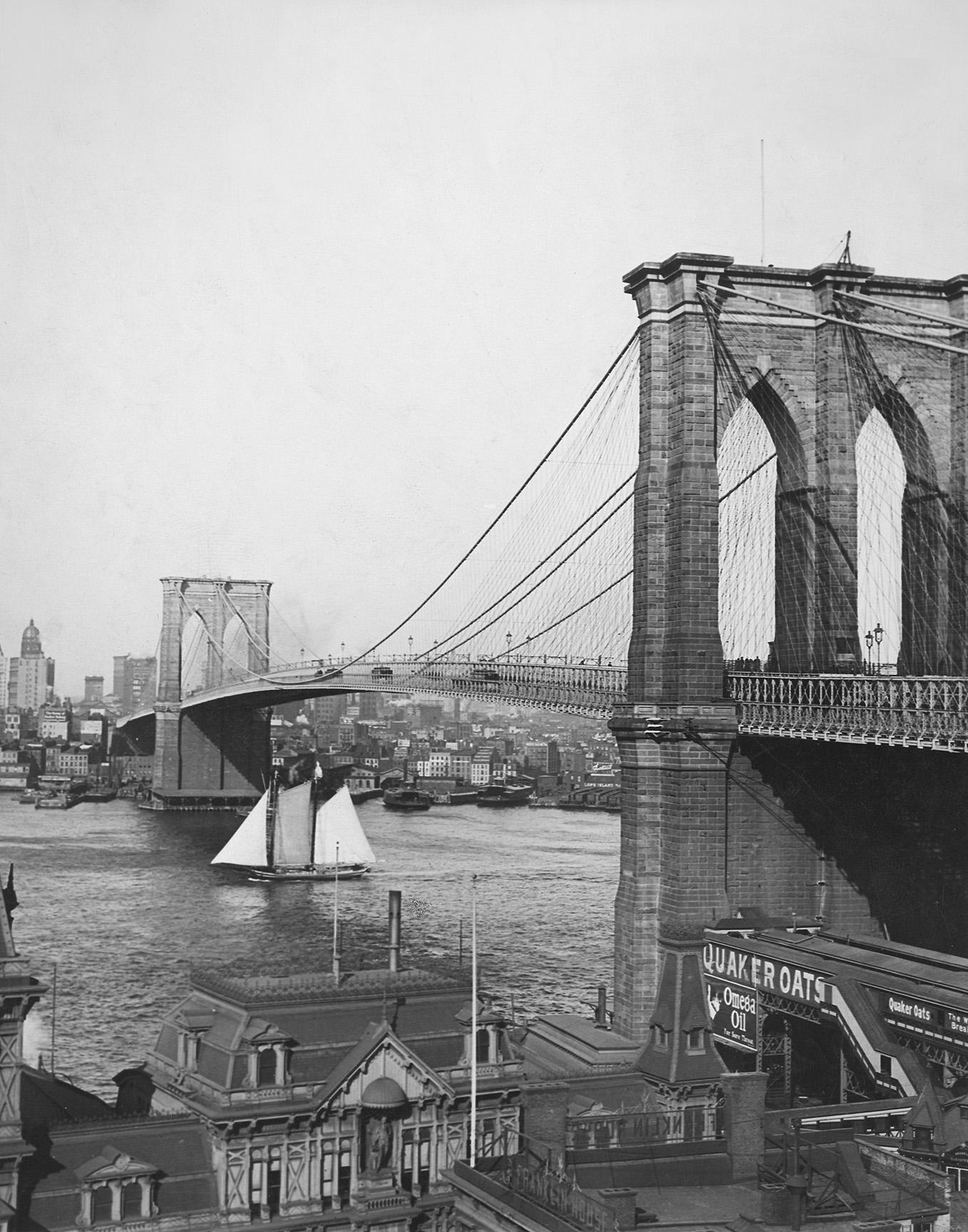 Brooklyn Bridge, Underwood & Underwood, ca. 1900