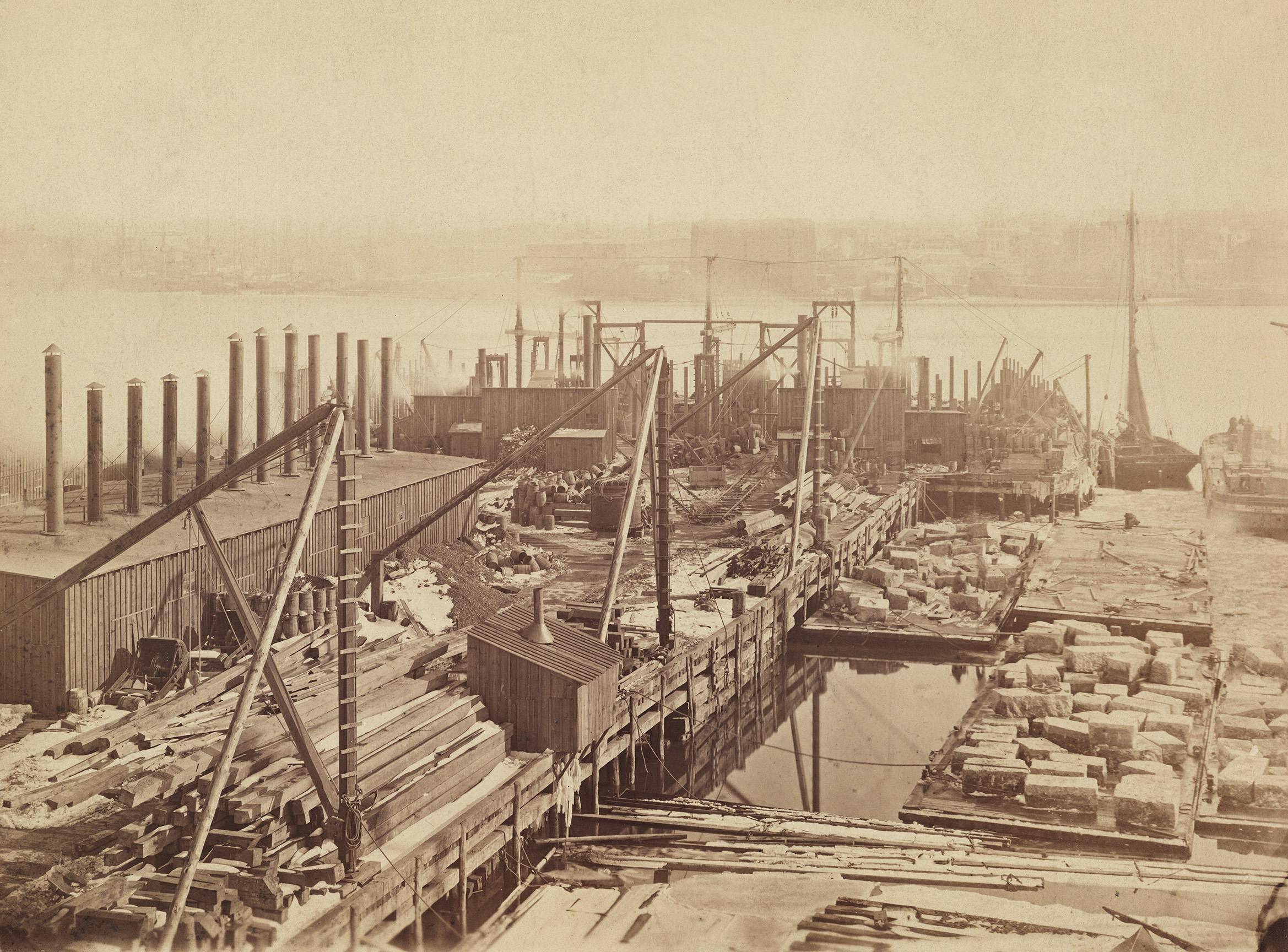 Brooklyn Bridge, ca. 1871