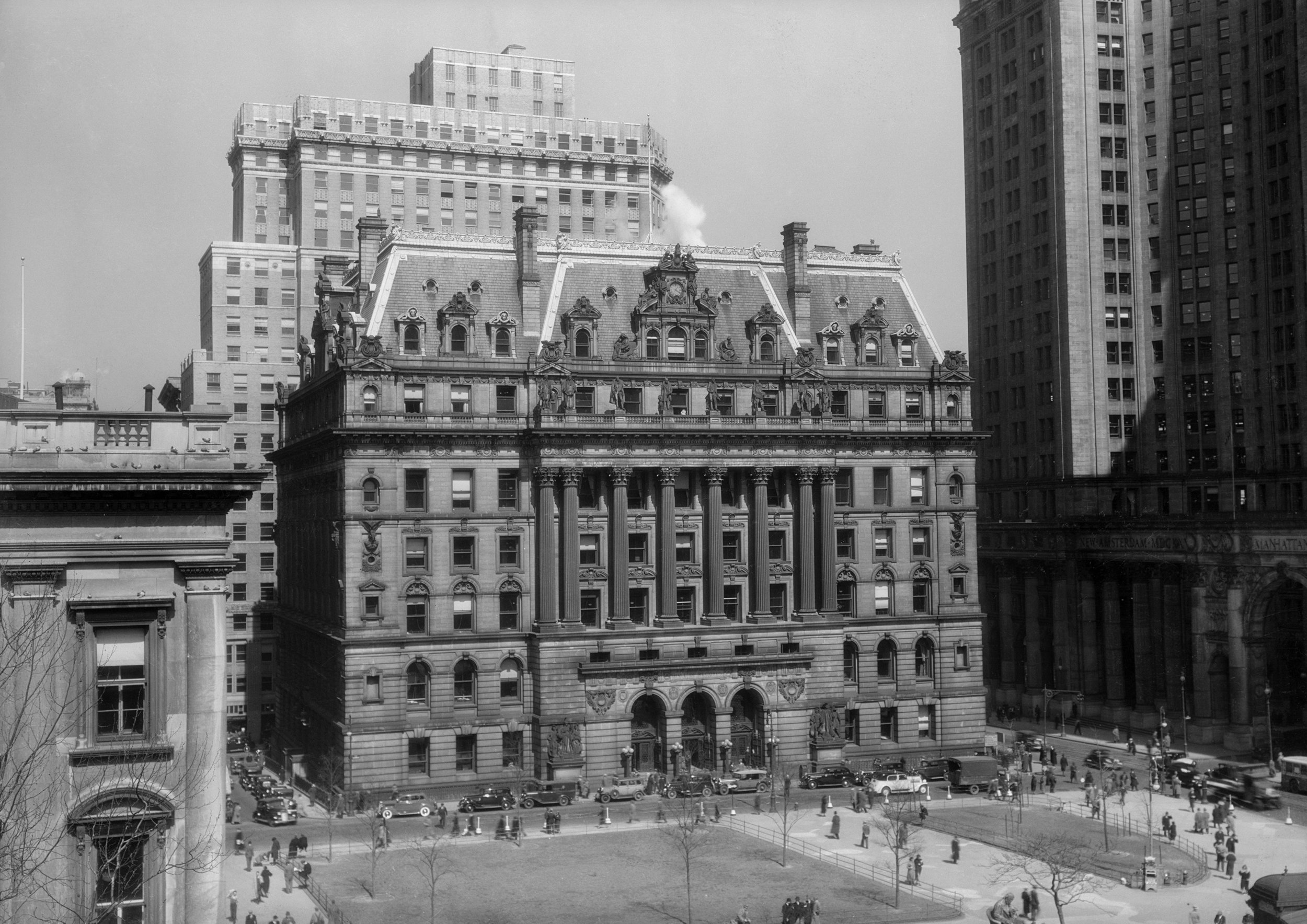 Hall of Records, ca. 1935. NYC Municipal Archives.
