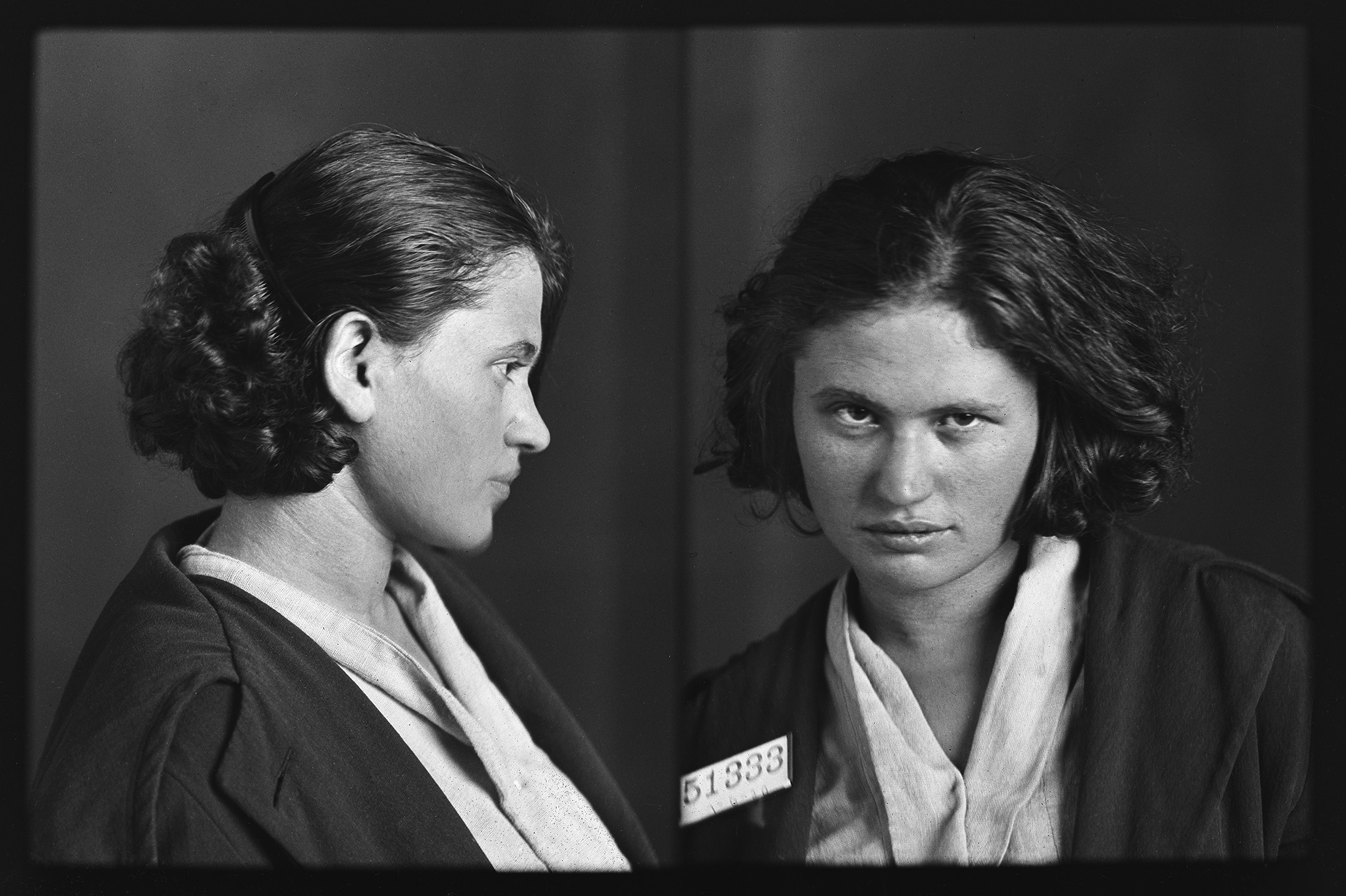 Isabella Ziegler, Grand Larceny  Photographed upon release from Bedford Hills Correctional Facility for Women, July 6, 1920