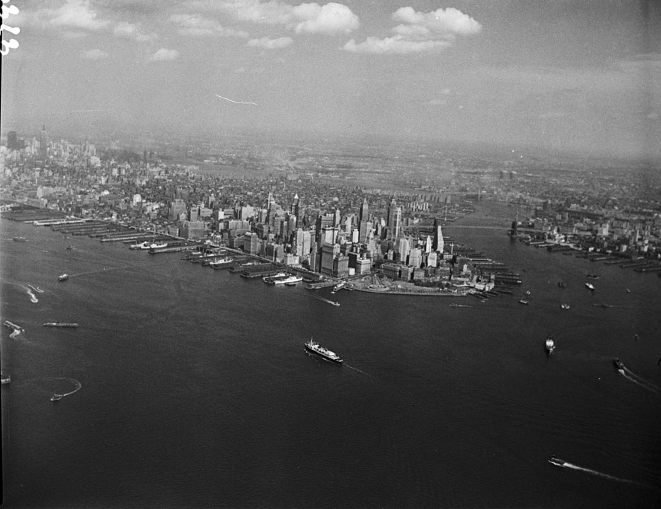New York Harbor, September 19, 1956.  NYC Municipal Archives.