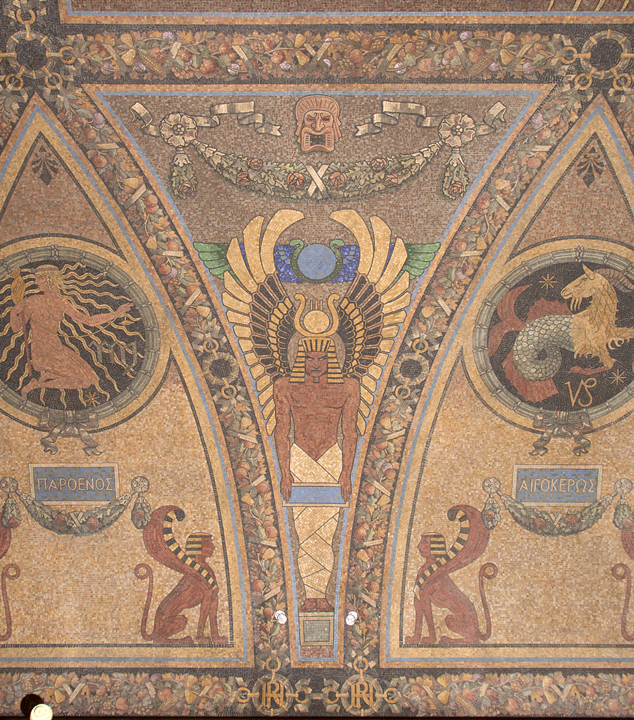 Virgo, ushabti, Capricorn.  Photo: Matthew Minor.