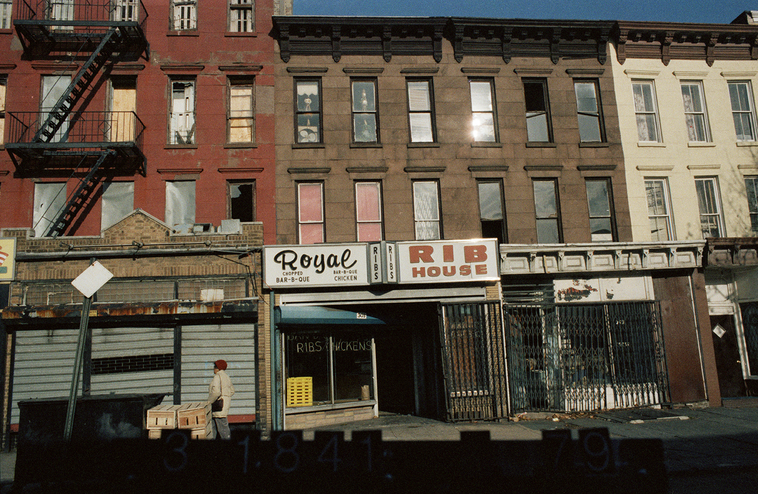 Royal Rib House, 303 Halsey St., Brooklyn, NY, circa 1985. Department of Finance collection, New York City Municipal Archives.