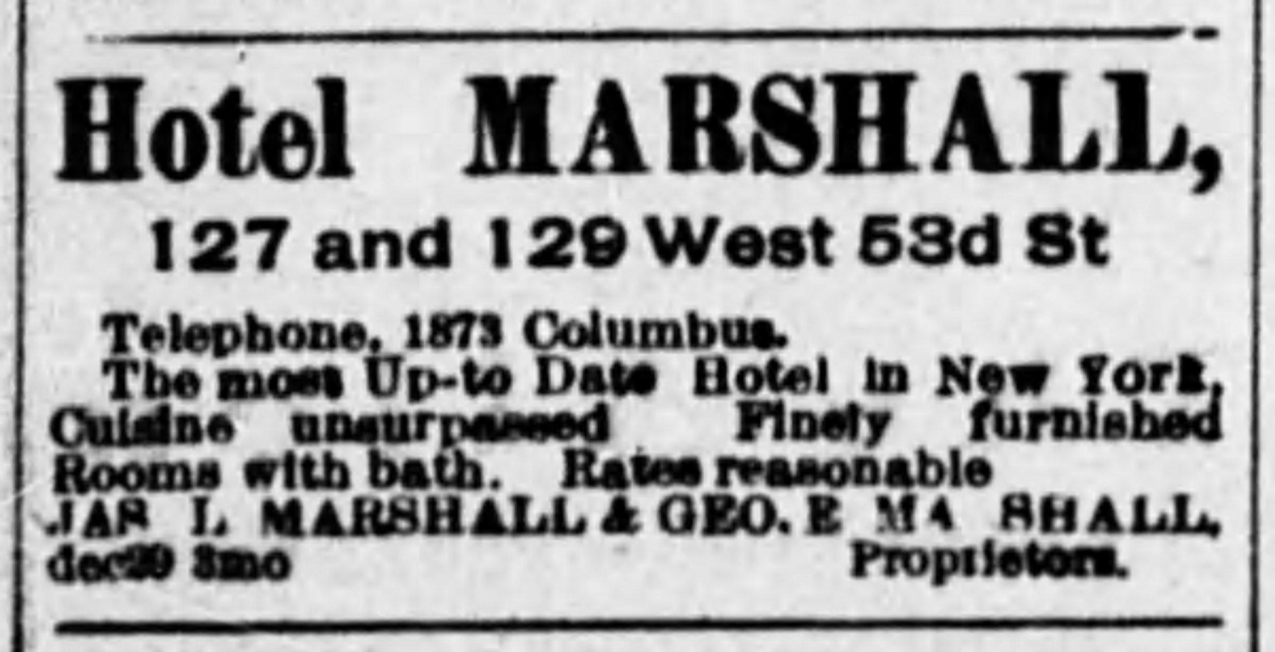 Advertisement,  The New York Age , June 8, 1905.