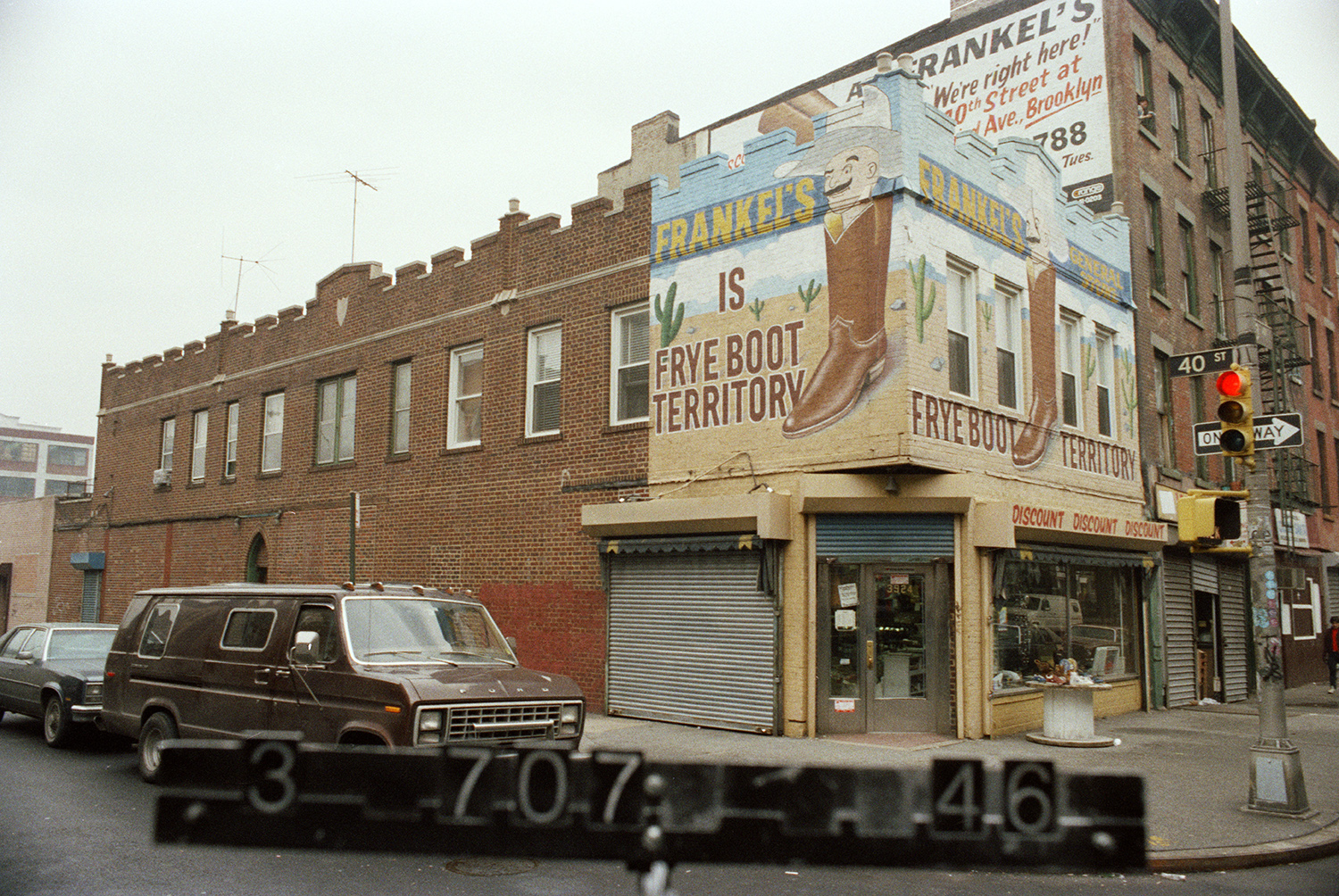 1980s photo of Frankel's, NYC Municipal Archives.