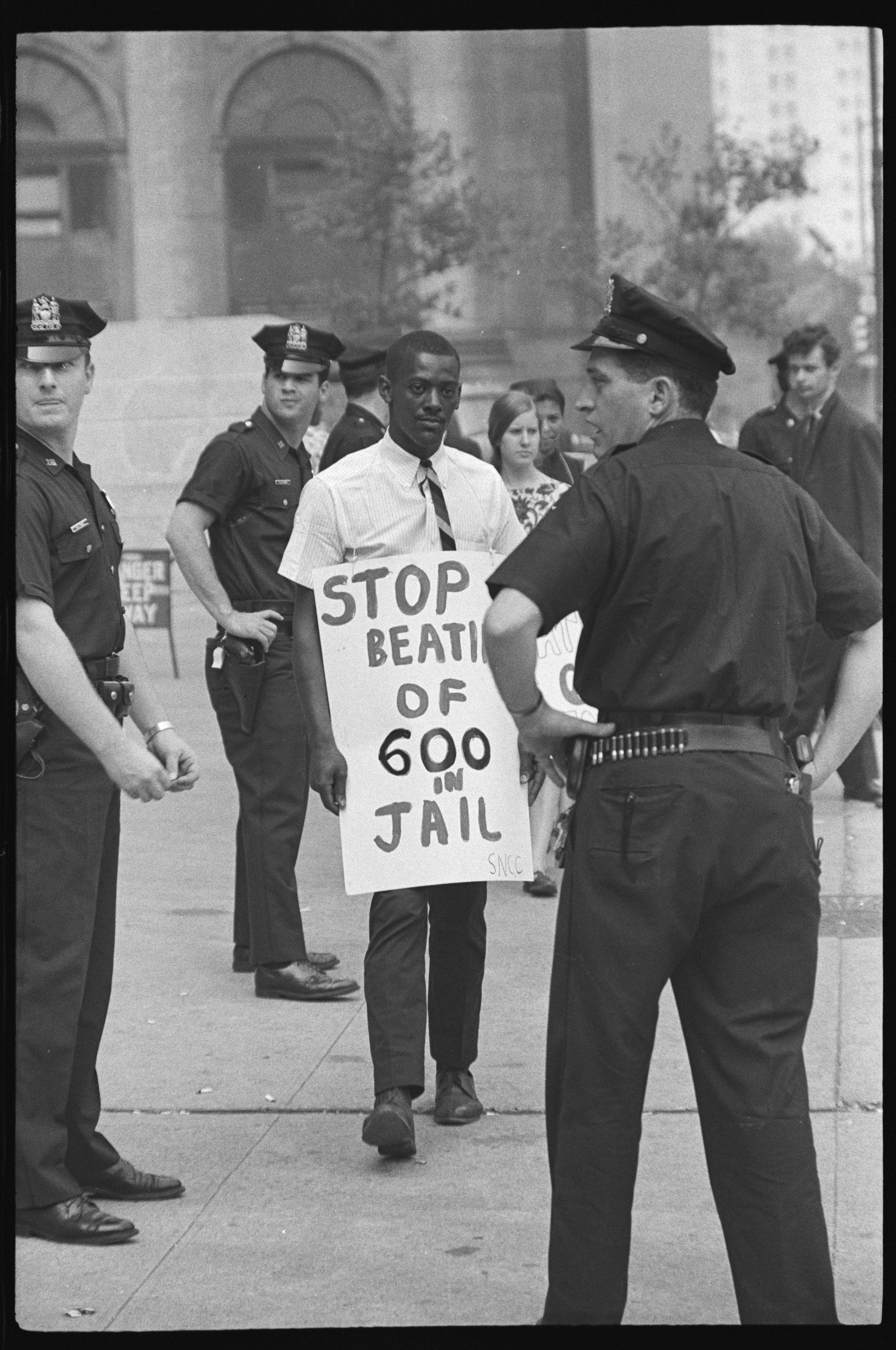 Picketing by CORE and SNCC in front of Federal Court - Foley Square, June 23, 1965