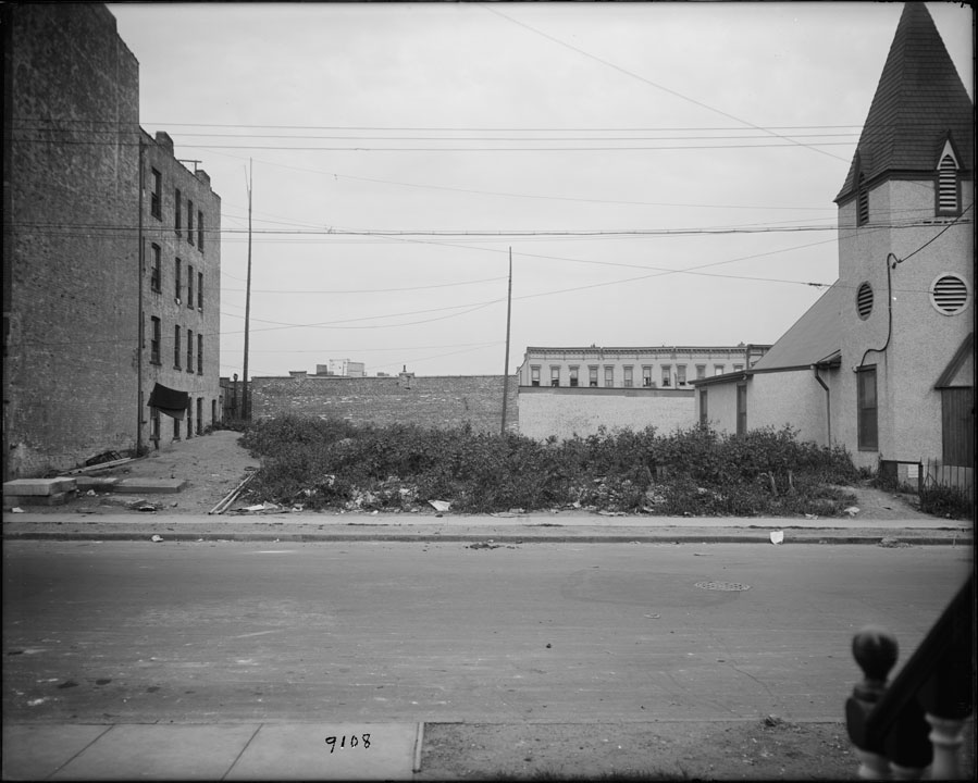 Site of proposed playground near Atlantic and Howard Avenues, 1924. Bridges, Plants, & Structures collection, NYC Municipal Archives.