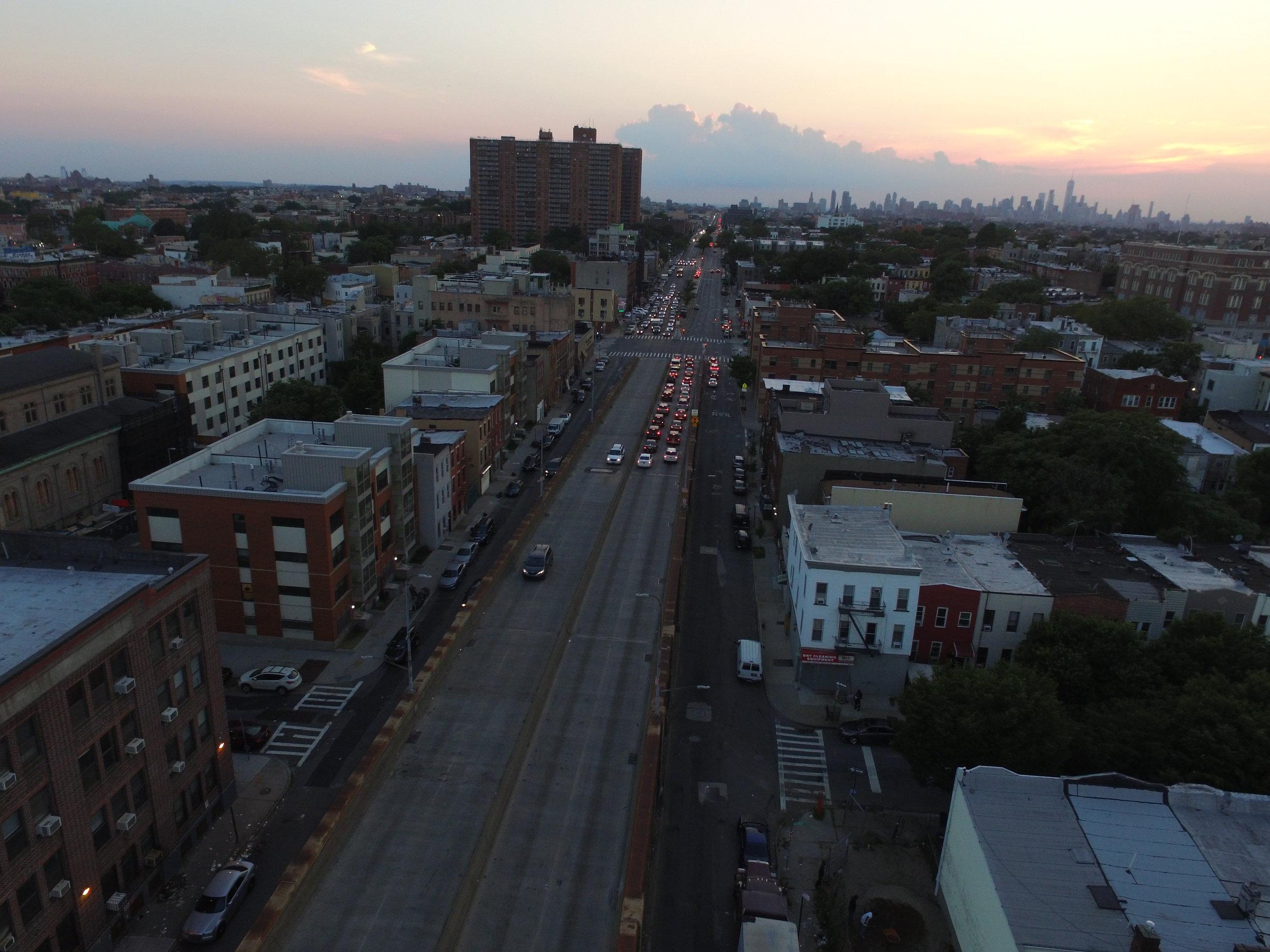Atlantic Avenue at Sackman Street looking west.Photo: Darryl Montgomery, 2017.