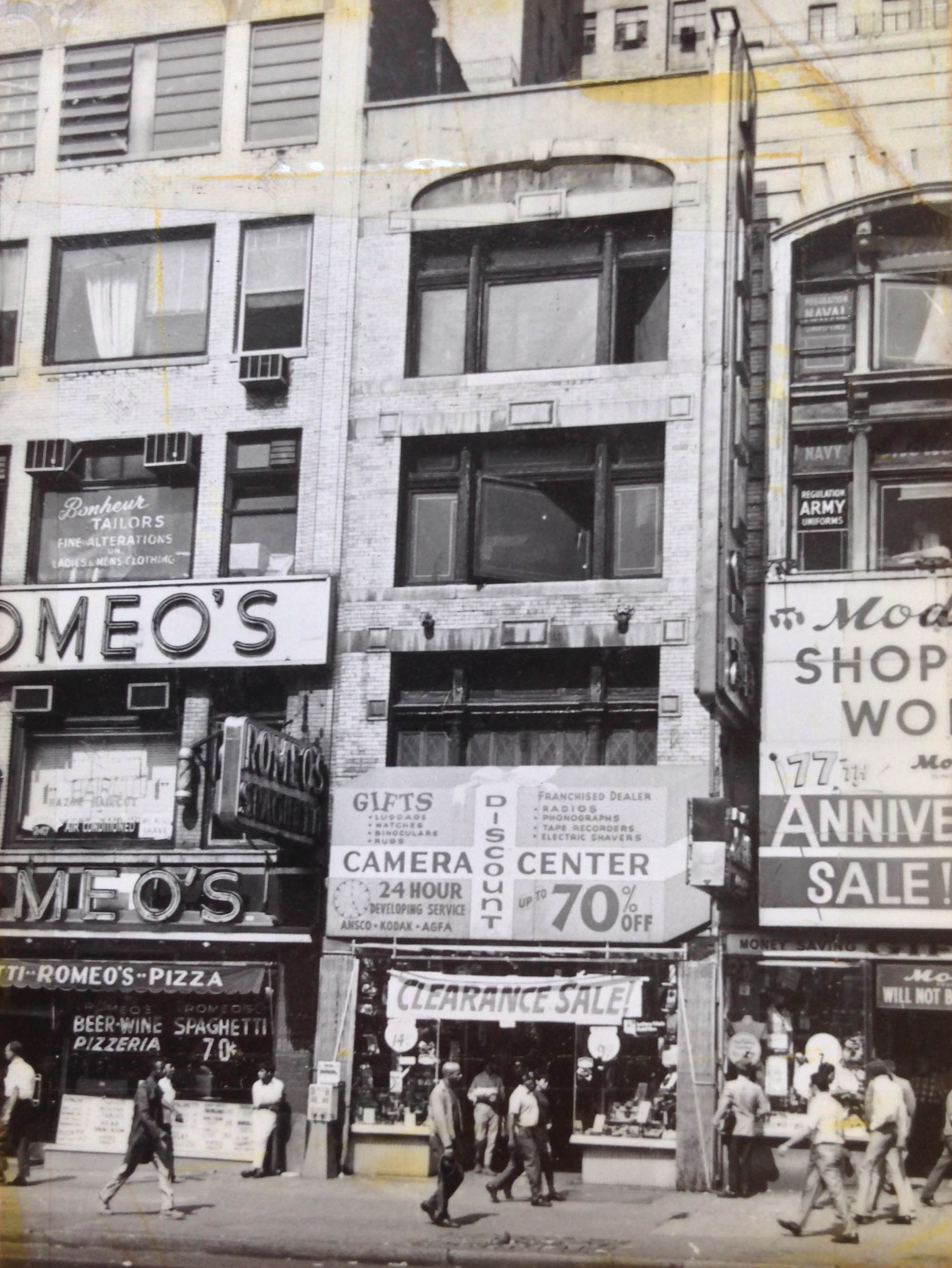 245 West 42nd Street, date unknown. Department of Finance Collection, NYC Municipal Archives.