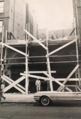 Photo of the theater Loews 116 Theater in 1965 being renovated by the church after it had been purchased for $210,000.