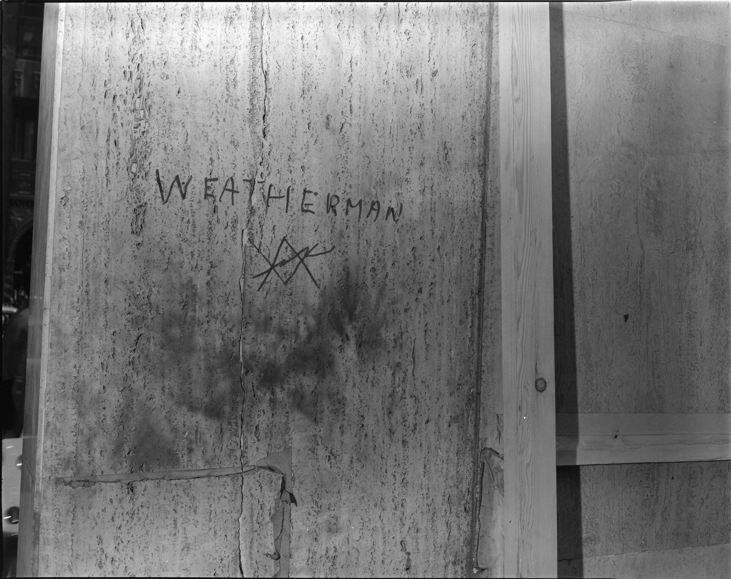Weatherman signature, August 1, 1970