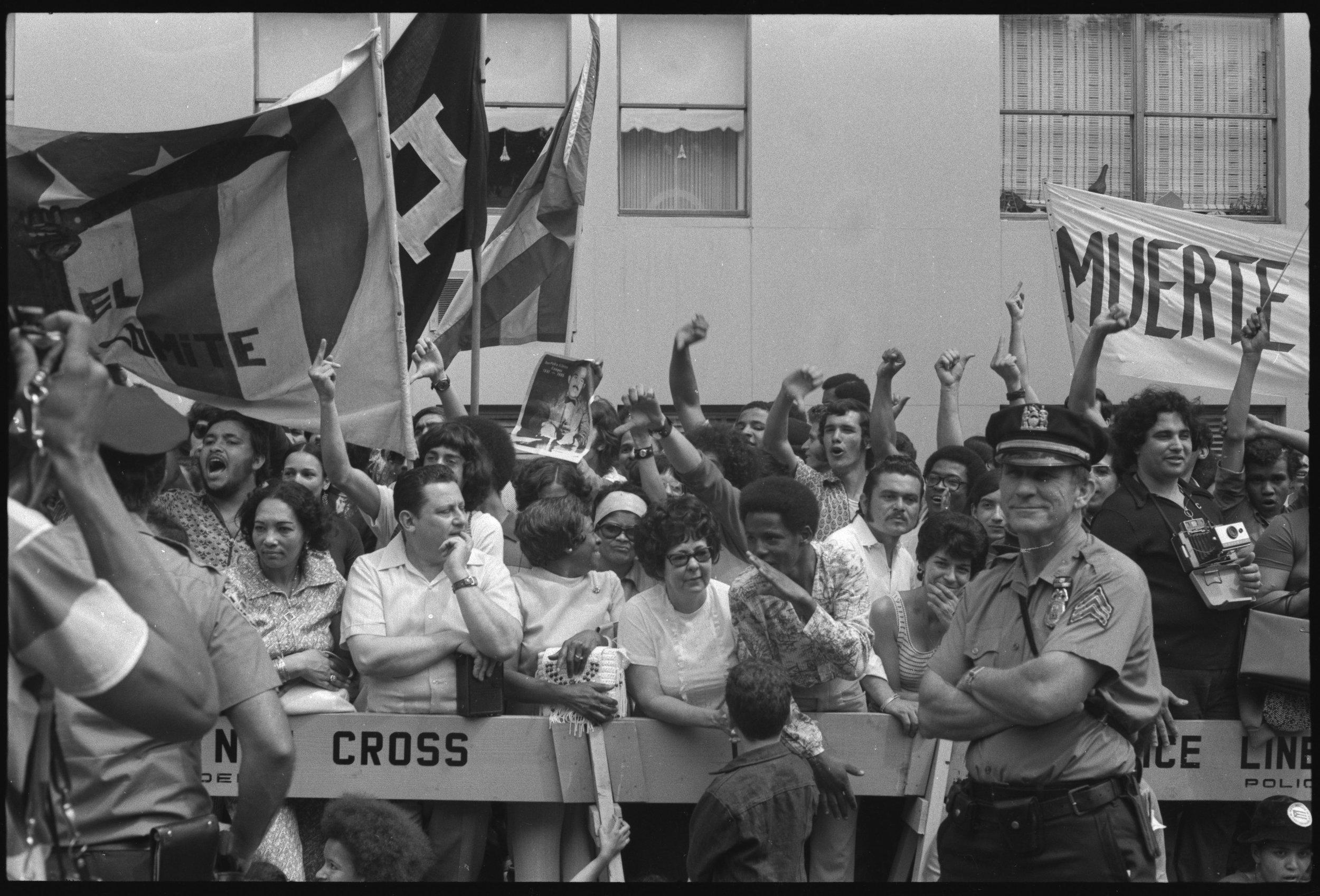 "Puerto Rican day parade, ""muerte,"" 1972"