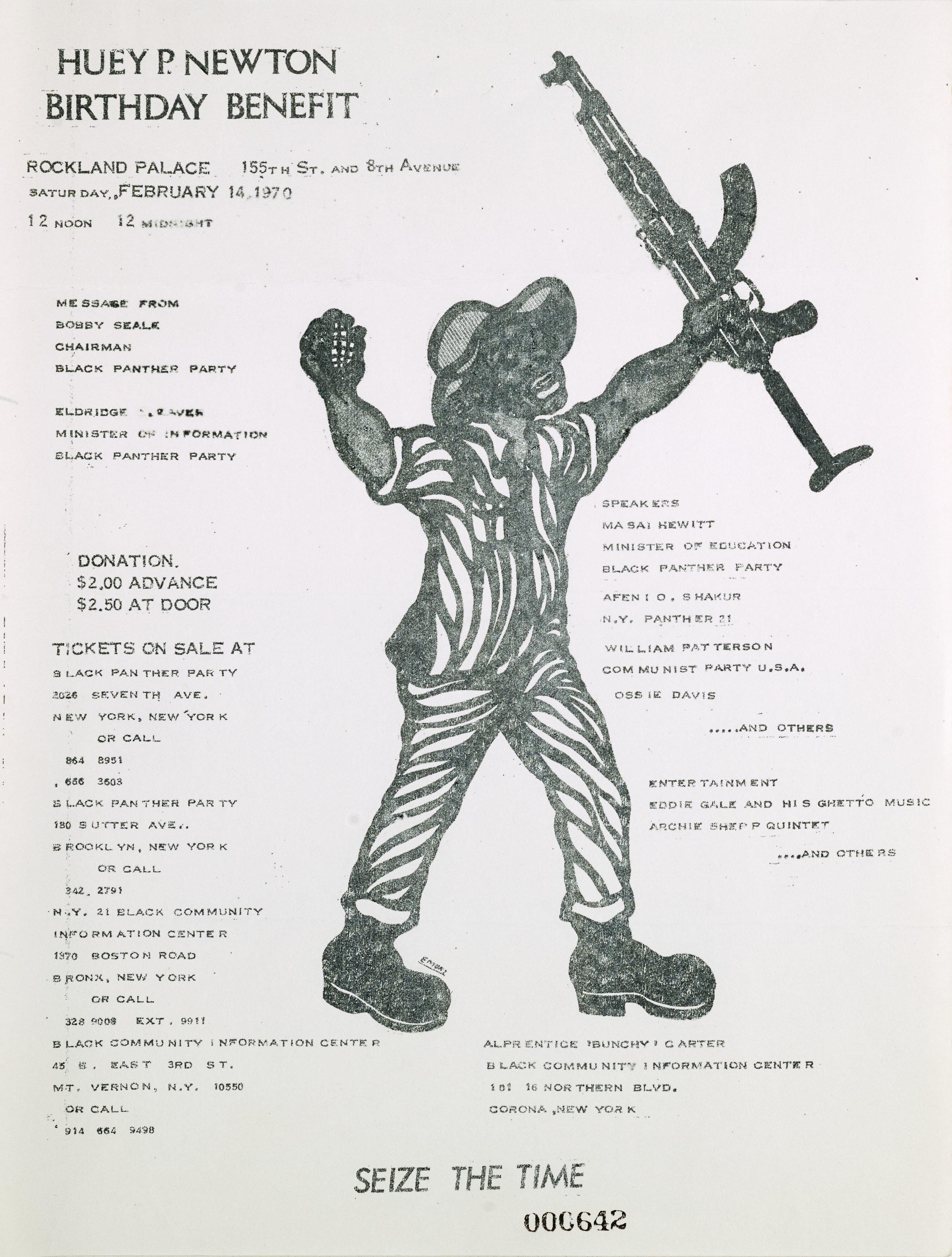 Huey Newton Birthday benefit, February 14, 1970