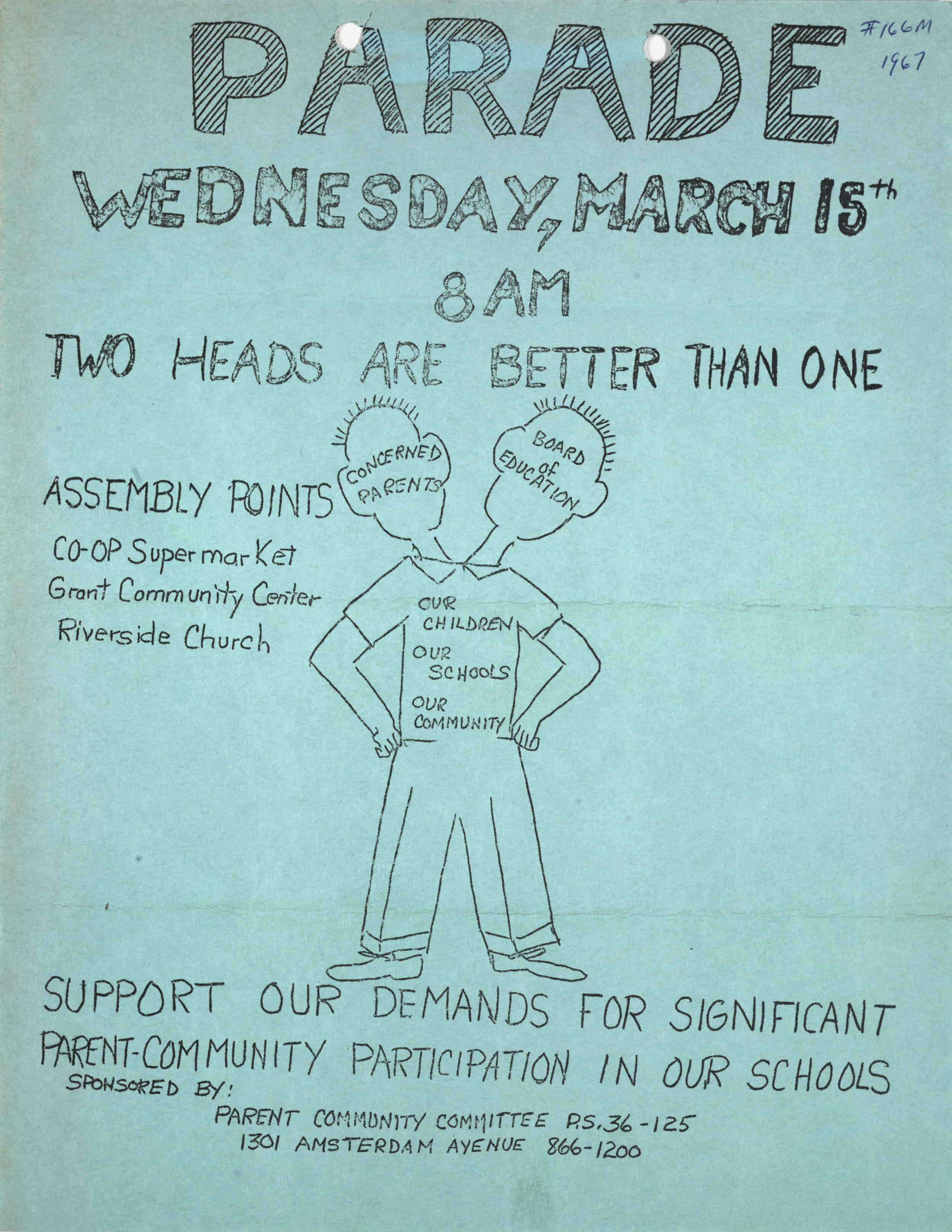 Parent Committee Parade Flyer, 1967