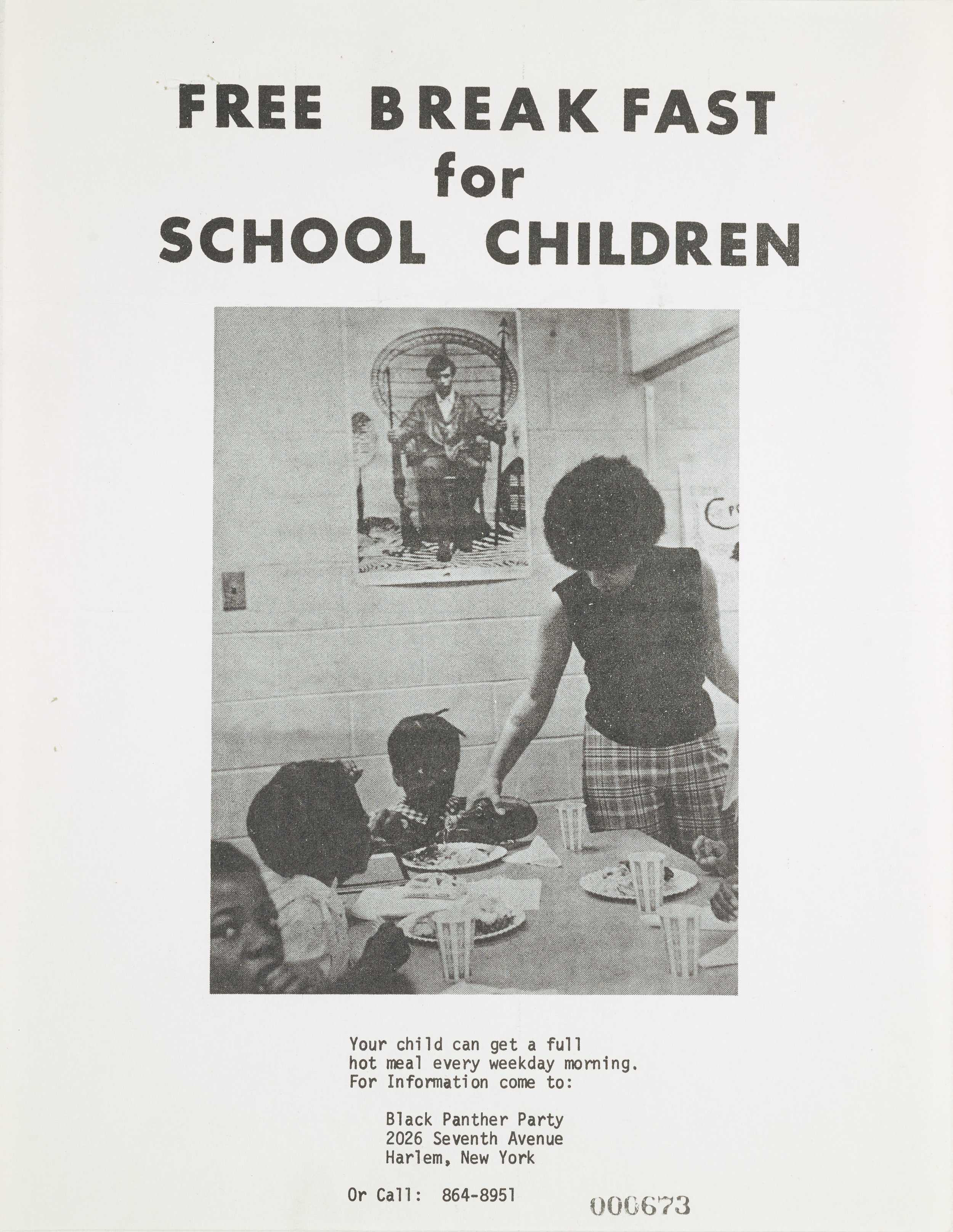 Black Panther Free Breakfast for School Children, 1969