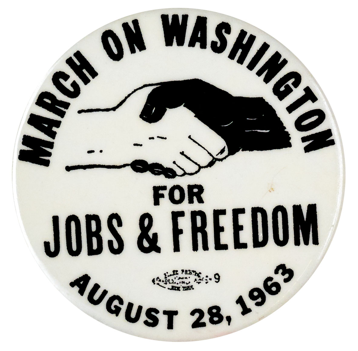 March on Washington for Jobs & Freedom button, 1963