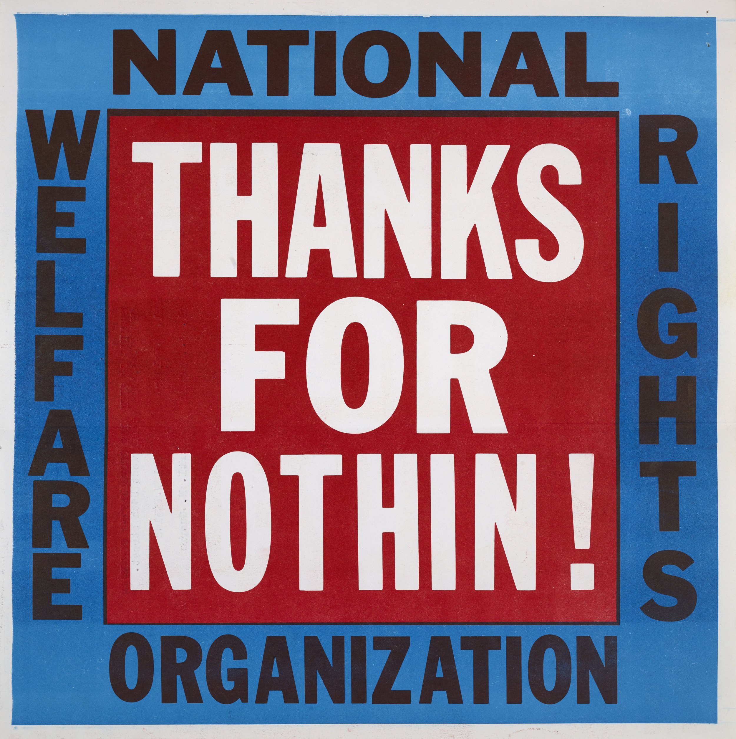"""Thanks for Nothin!"" flyer"