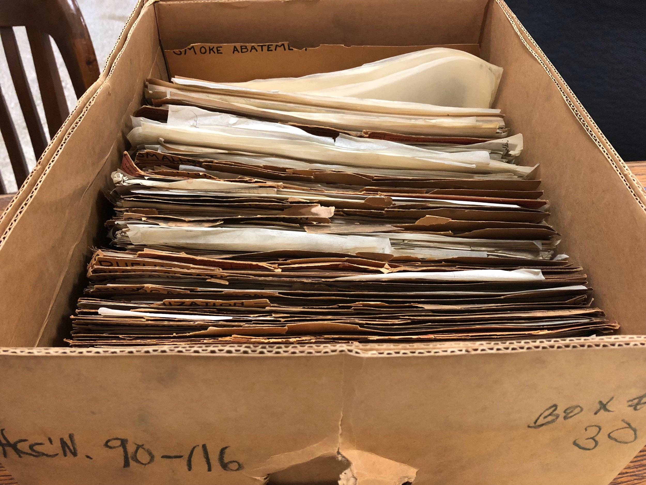 Unprocessed records of Health Commissioner Wynne (1928-1933)