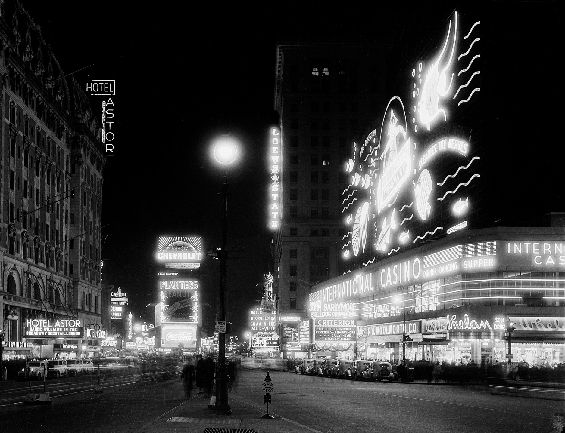 Times Square at Night, December 1937.WPA Federal Writers' Project Collection, NYC Municipal Archives.
