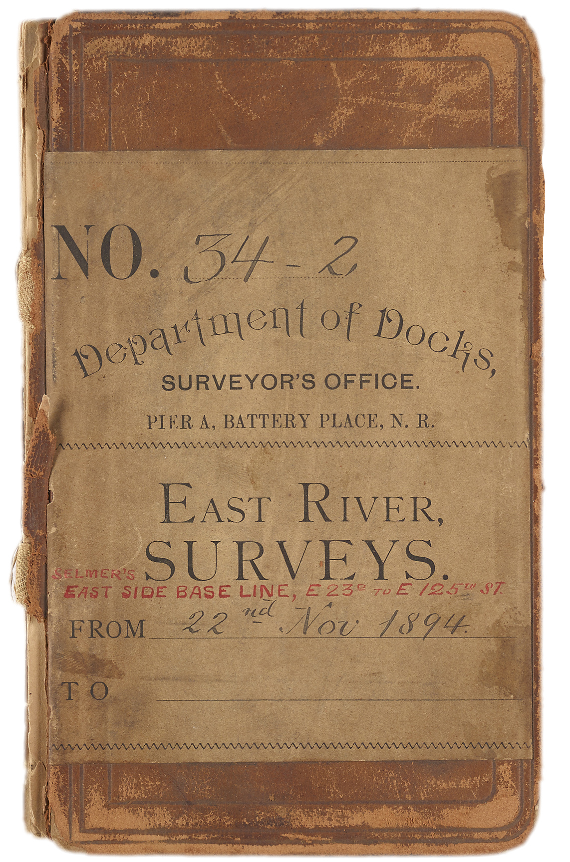 This notebook focusing on the East River waterfront near what is now Alphabet City, was created by an employee of the Department of Docks. Department of Ports and Trade Collection, NYC Municipal Archives.