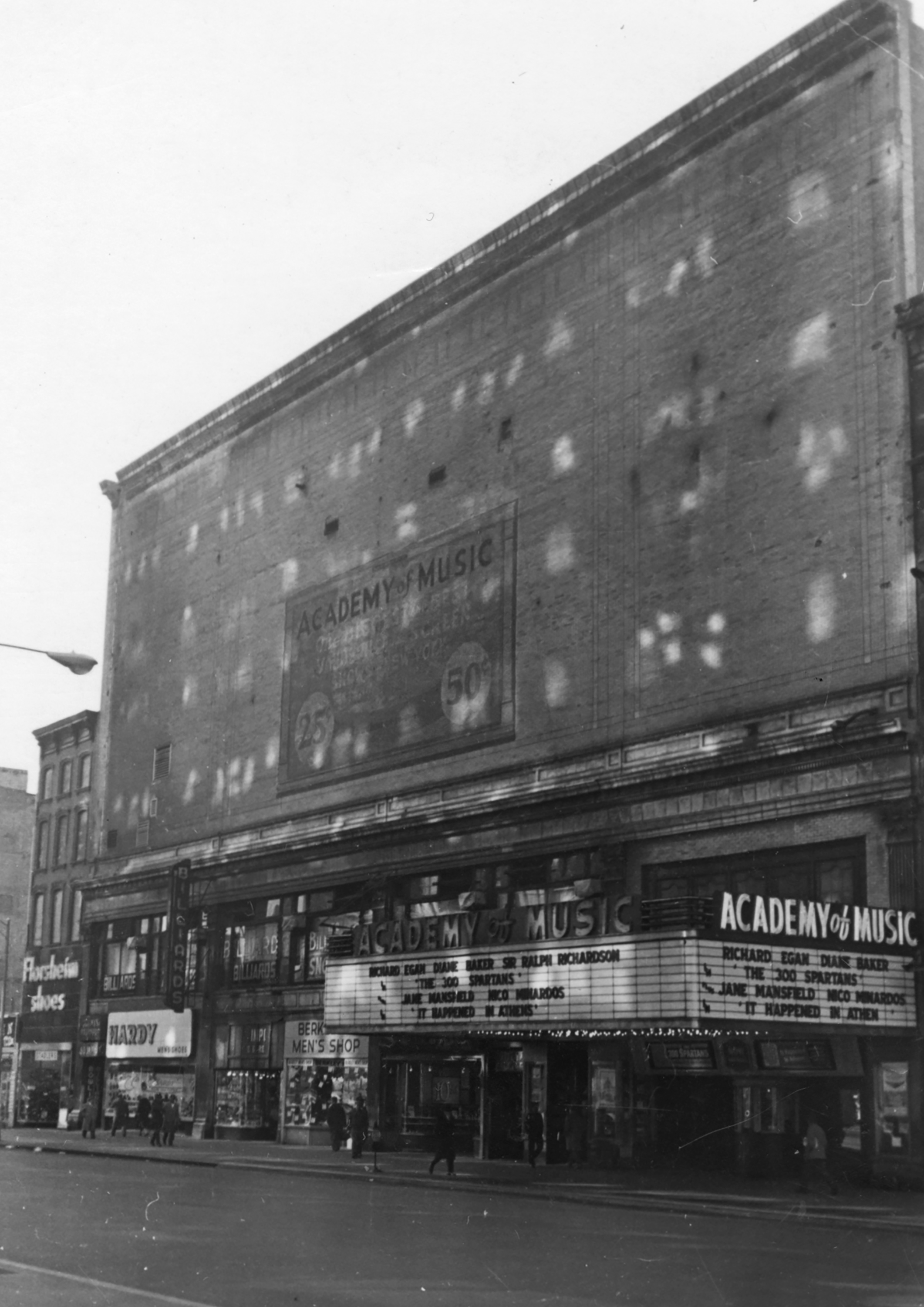 126-38 East 14th Street, the Academy of Music, 1962. DOF Tax Photo Collection, NYC Municipal Archives.