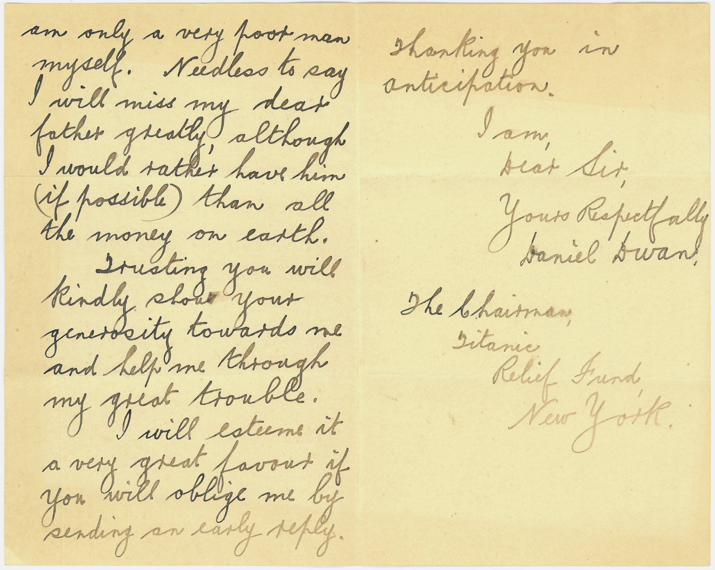 Letter from Daniel Dwan, Ireland, to Mayor Gaynor, May 4, 1912, 2 of 2.jpg