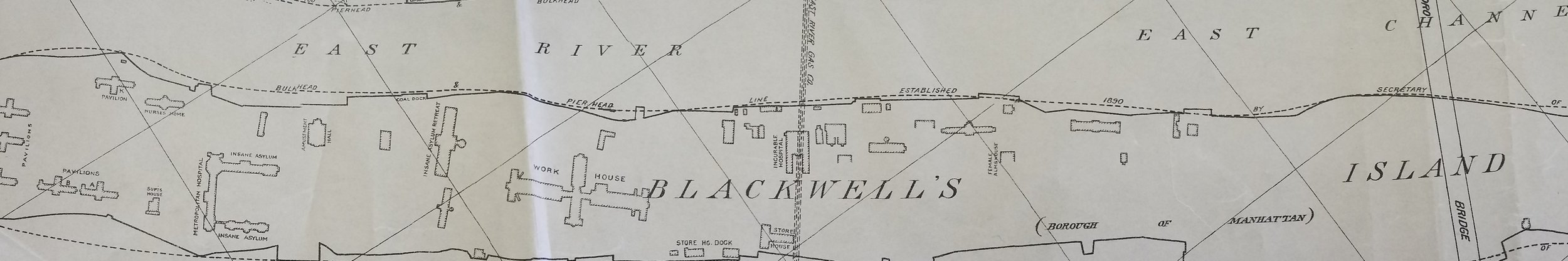 Untitled Map of Blackwell's Island and Queen's Waterfront, 1918. Department of Ports and Trade collection, NYC Municipal Archives.