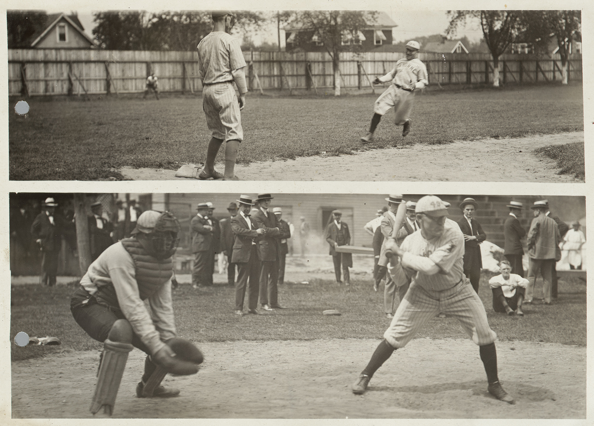 Scenes from baseball game, Elks Club Clambake, Midland Park, Grant City, Staten Island, August 1924. NYC Municipal Archives Collection
