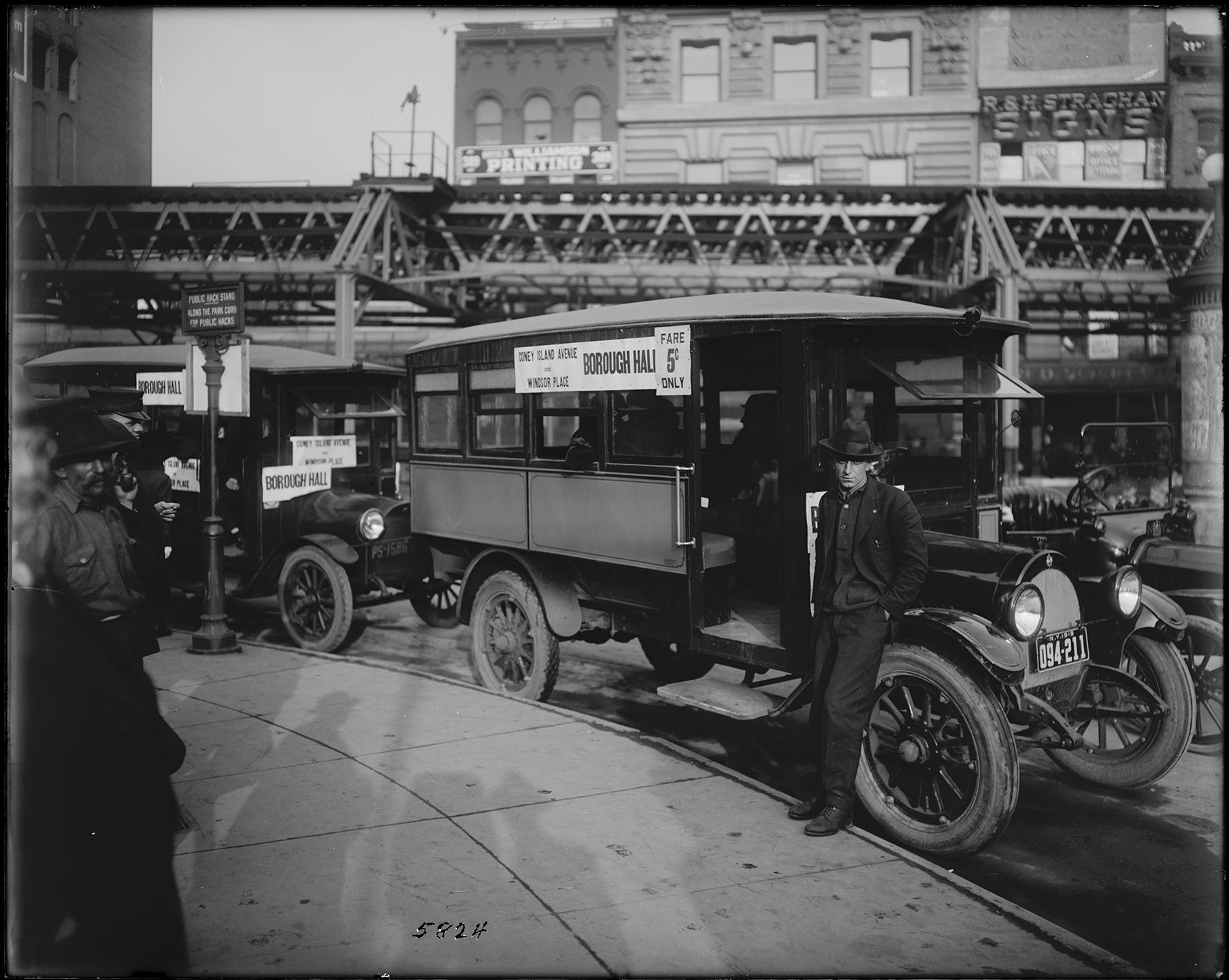bps_05824: Stage Line Manhattan Bridge, Eugene de Salignac, photographer, Bridges, Plants and Structures Collection 1919, NYC Municipal Archives