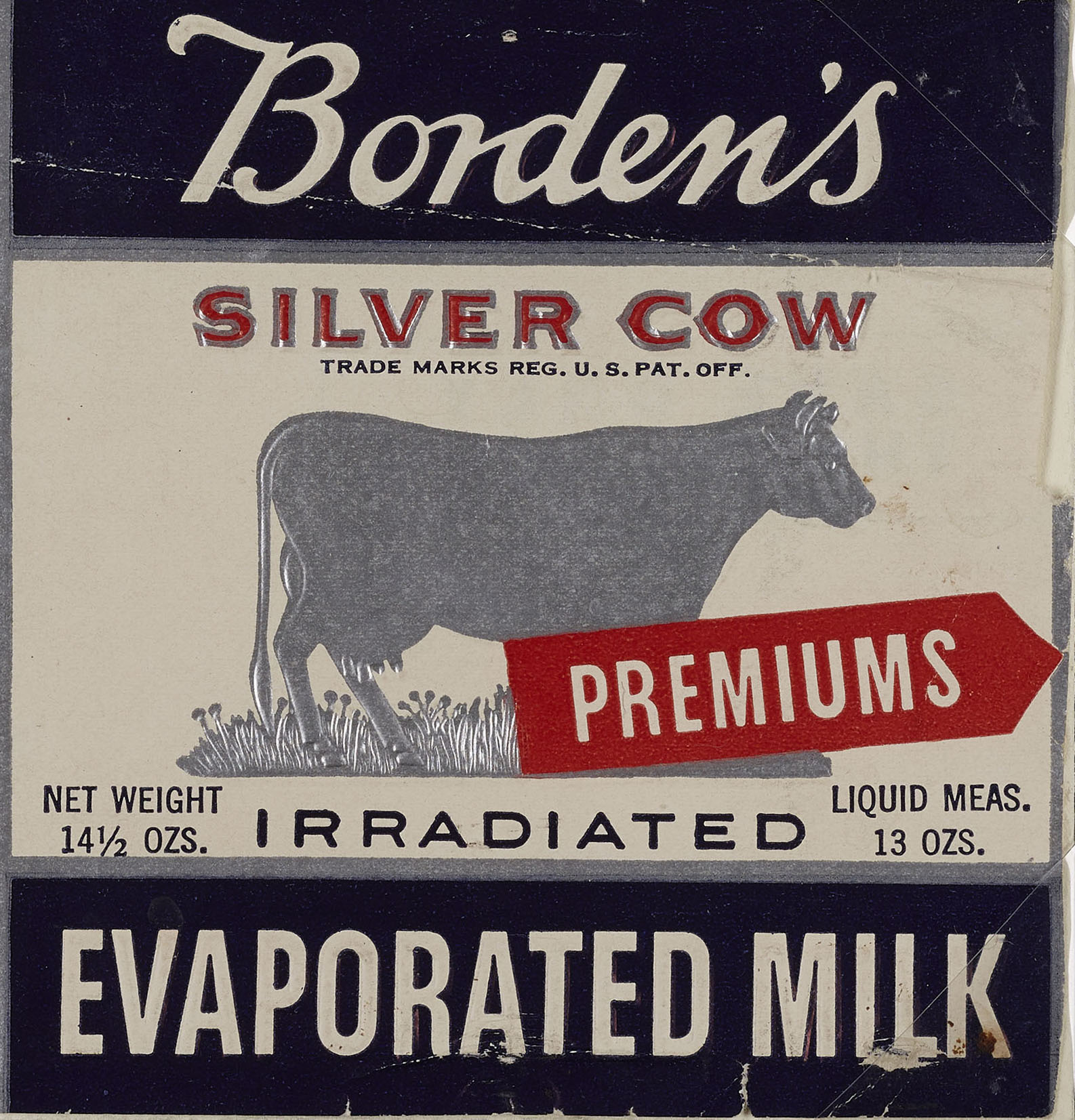 """Label for Borden's """"irradiated"""" evaporated milk, ca. 1938. WPA Federal Writers' Project Collection, NYC Municipal Archives."""