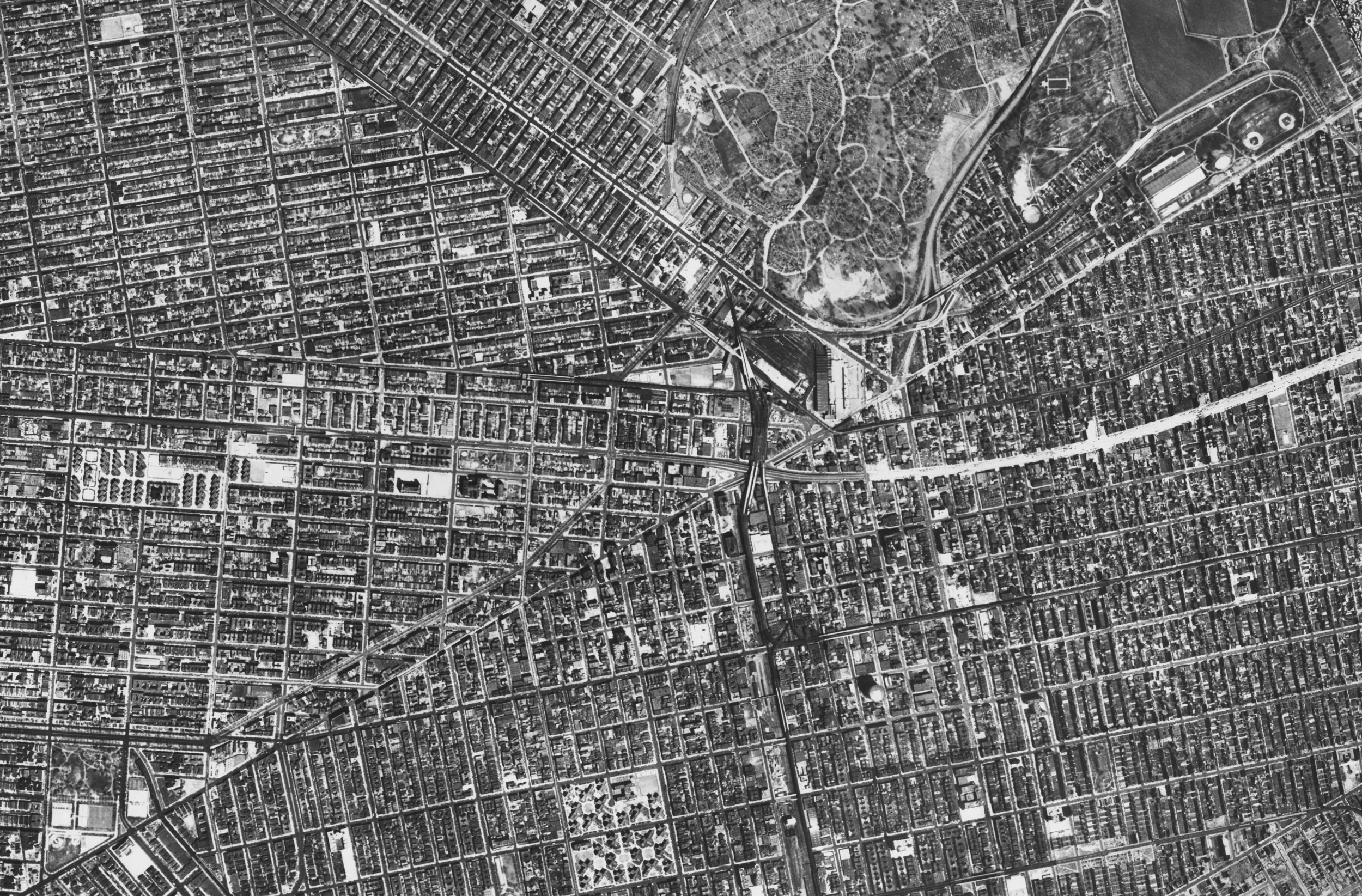 Sectional Aerial Map of the City of New York, Plate No. 17, Brownsville, East New York, Brooklyn. Aero Service Corp. 1951. NYC Municipal Archives