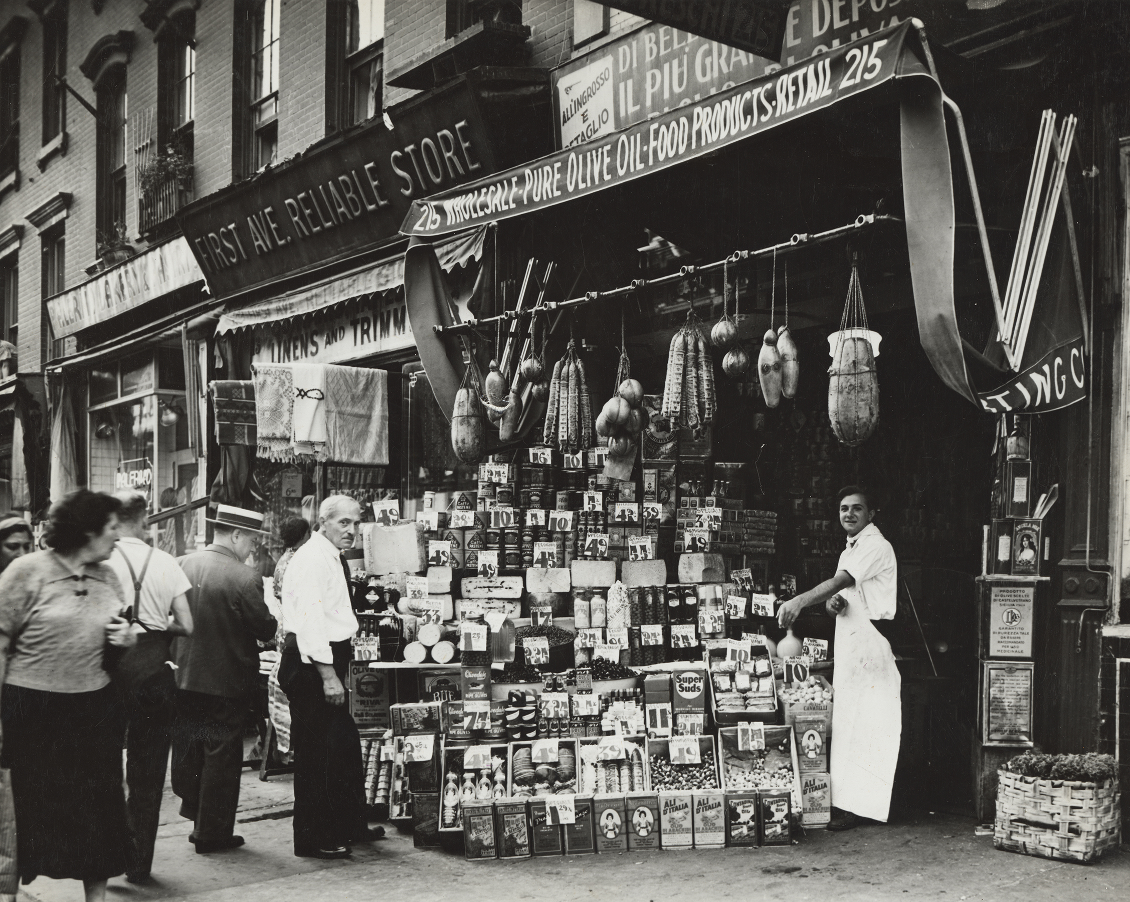Italian Grocery Store, NYC, ca. 1937 - please credit NYC Municpal Archives.jpg