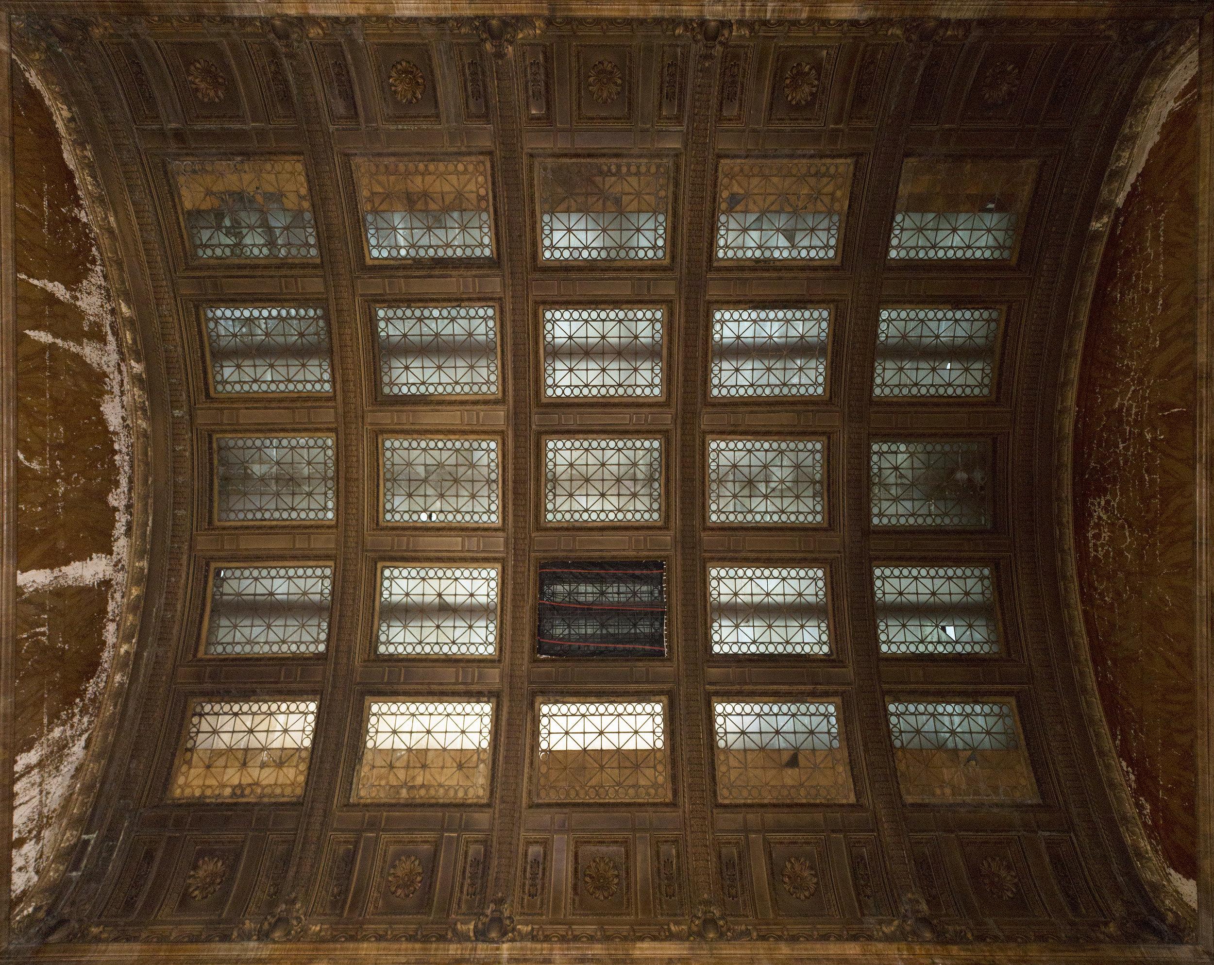 The skylight before repairs.