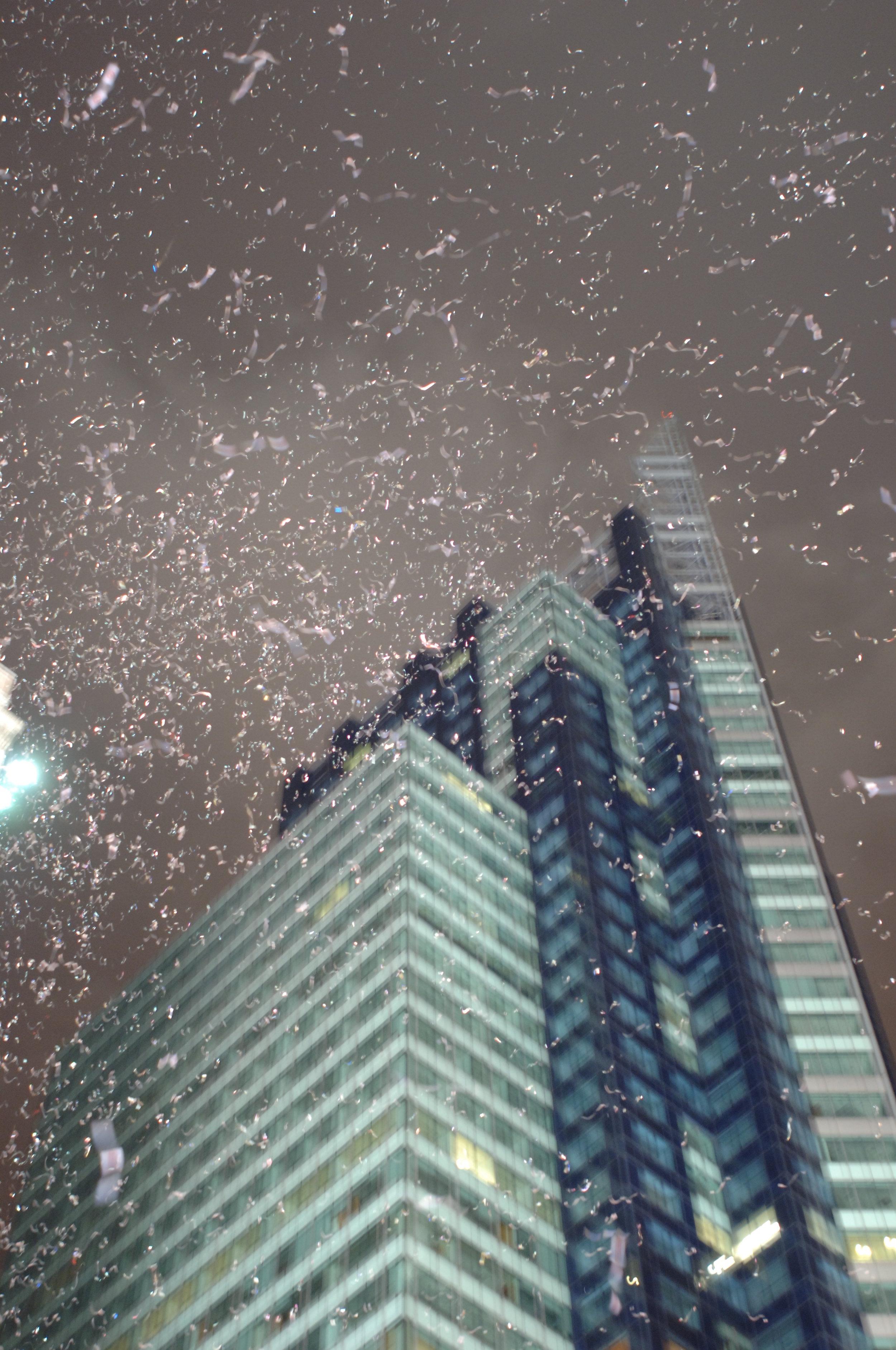 Confetti, Times Square, 2006