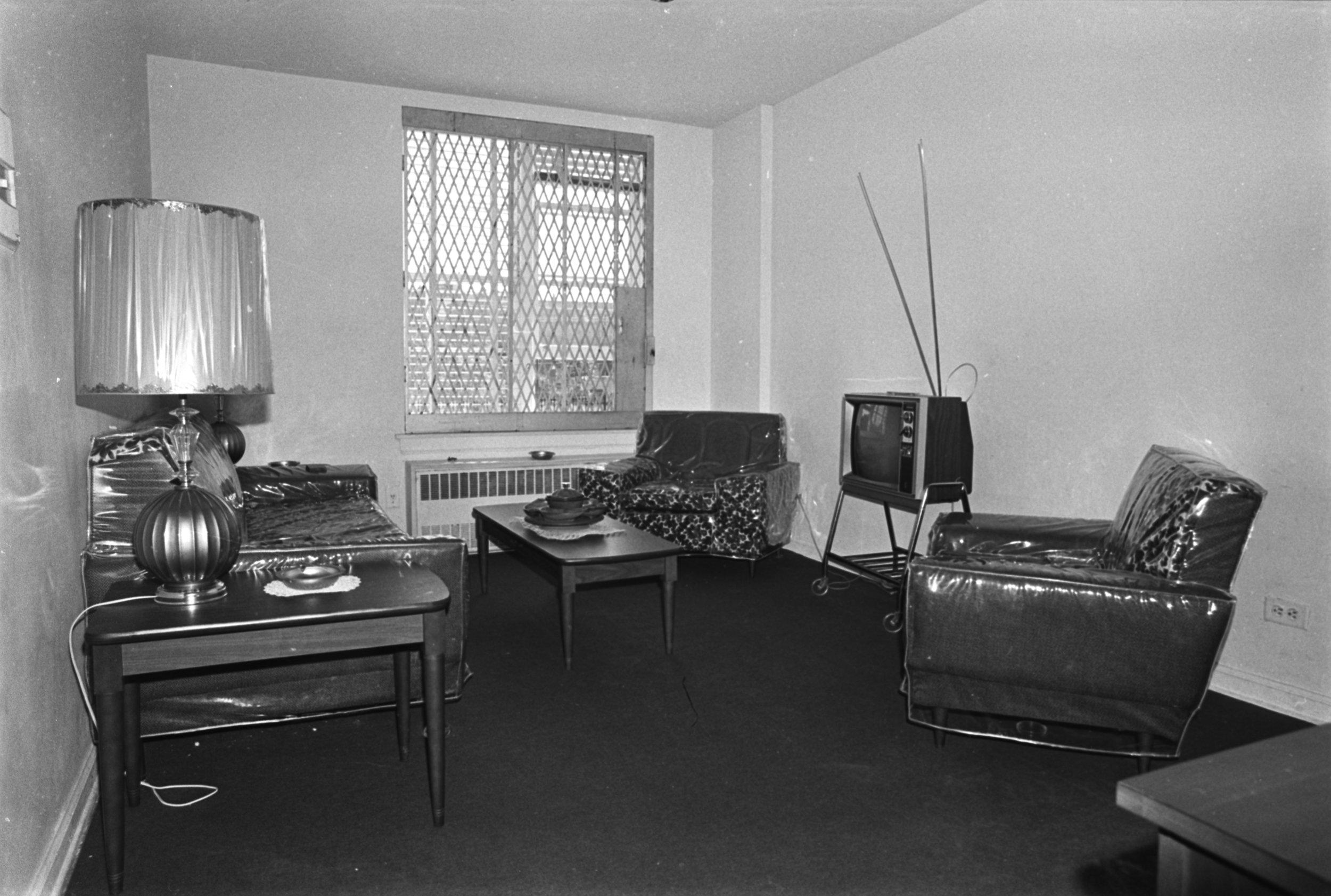 Klaus Rehabilitation on South 1st Street, Williamsburg, Brooklyn, October 1971. Photograph by Leonard Boykin.